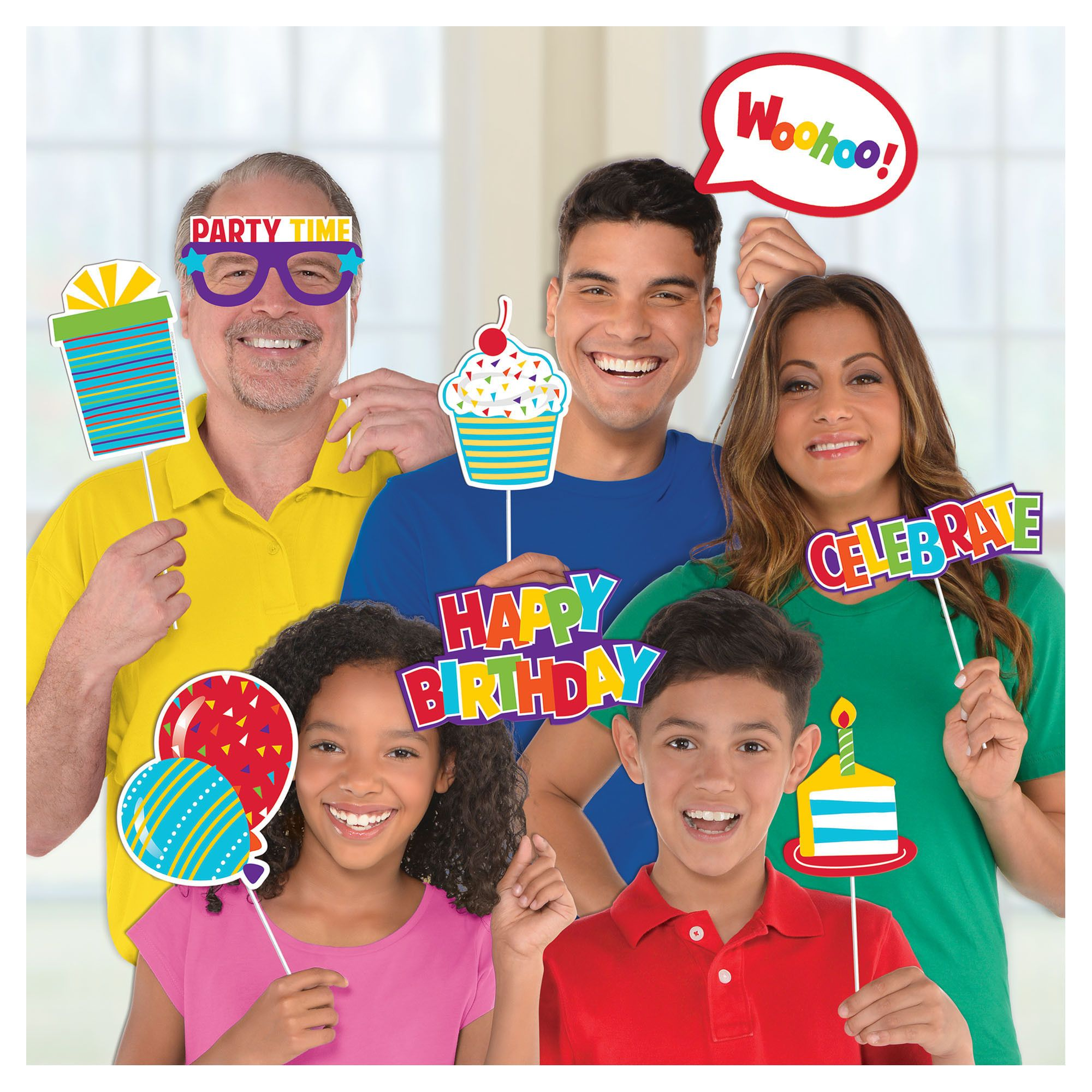 Rainbow Birthday - Photo Props