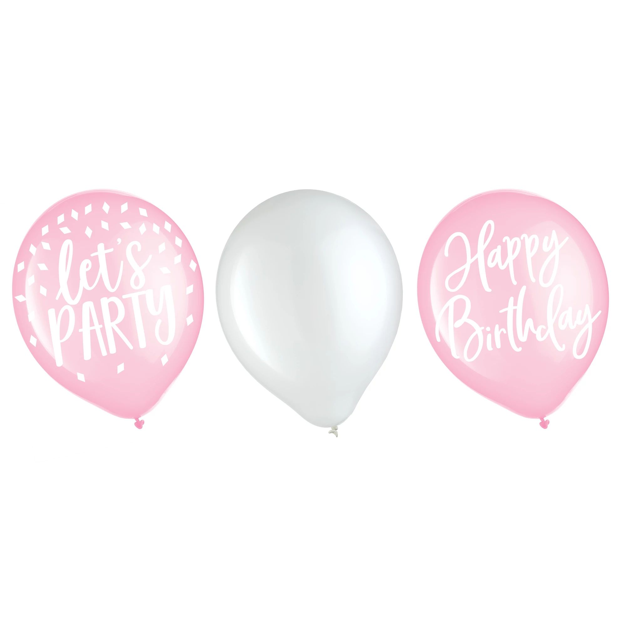 Blush Birthday Latex Balloons 15ct