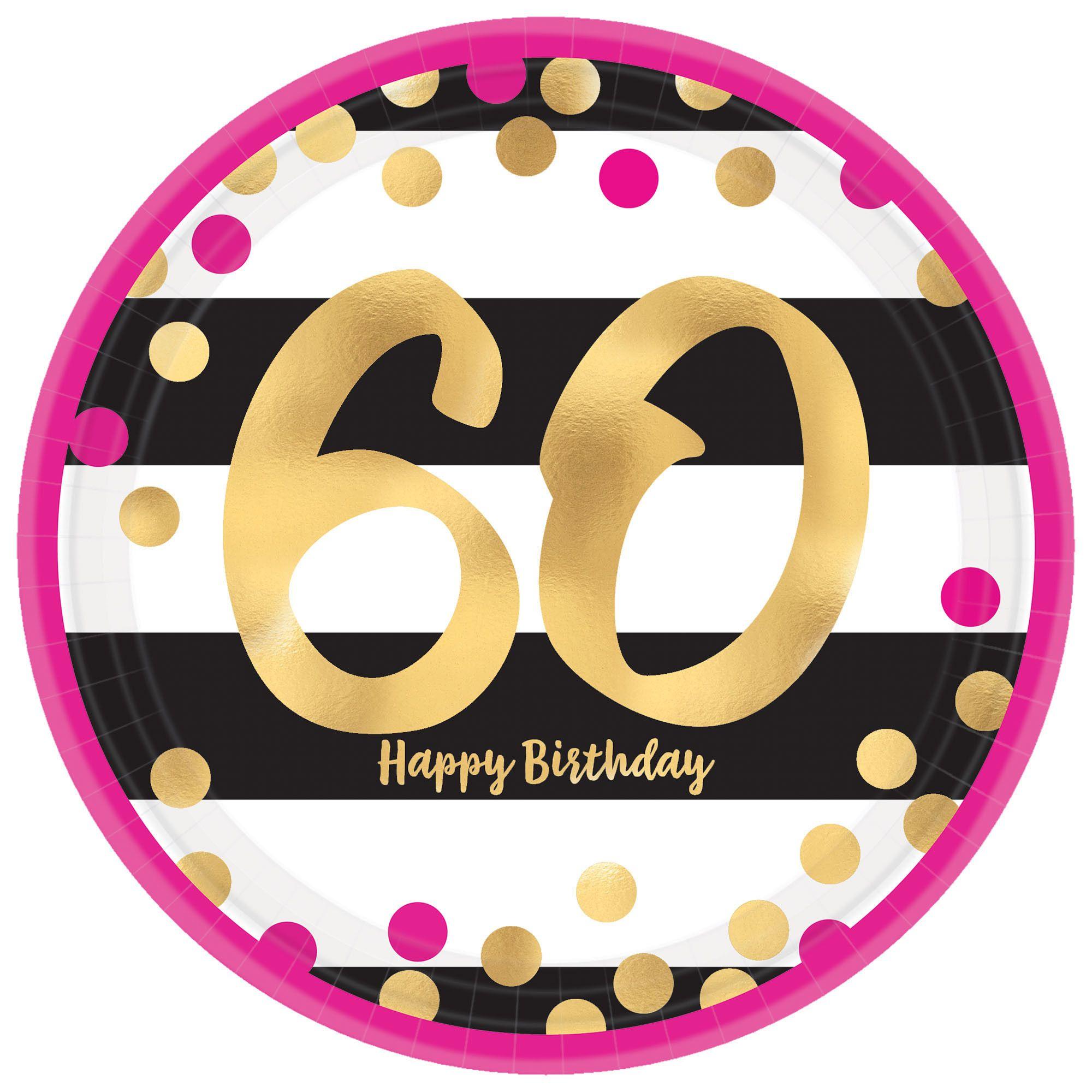 Pink & Gold Milestone 60 9