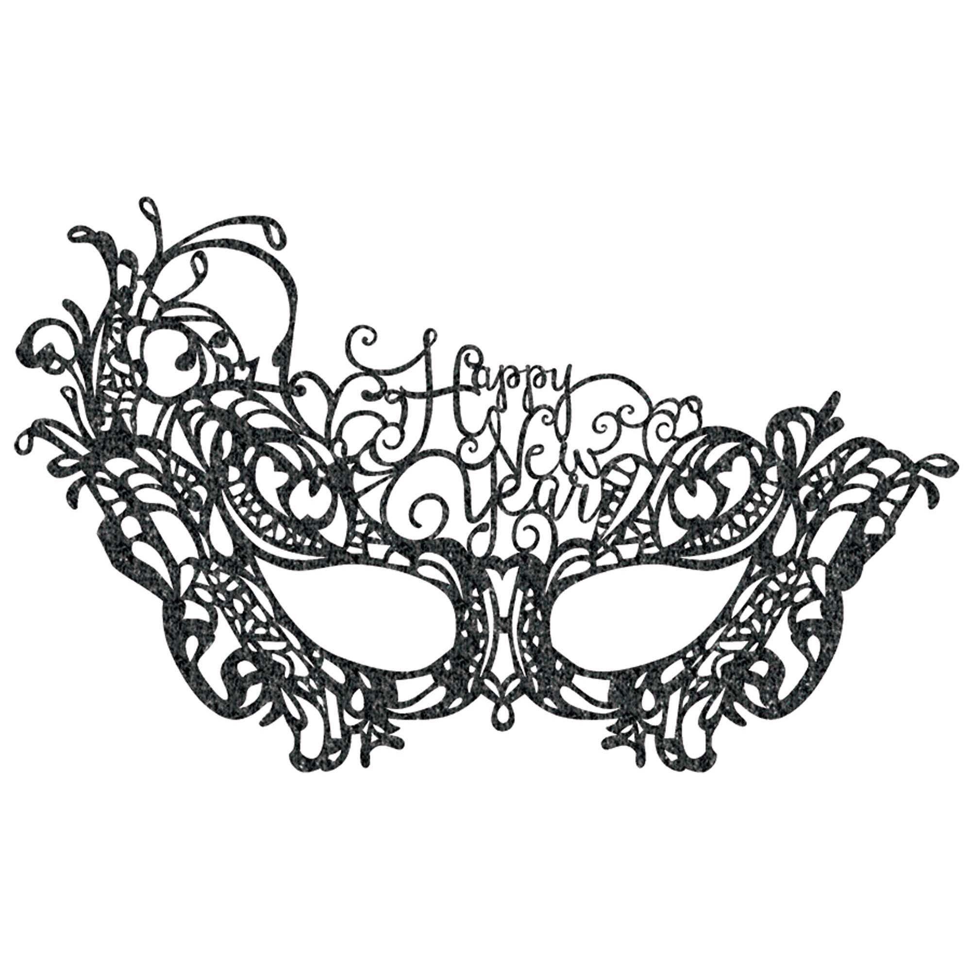 HNY Black Lace Mask