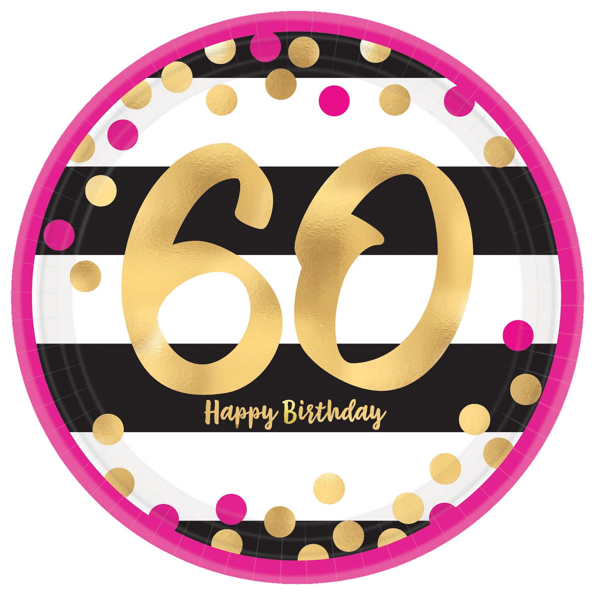 Pink & Gold Milestone 60 7