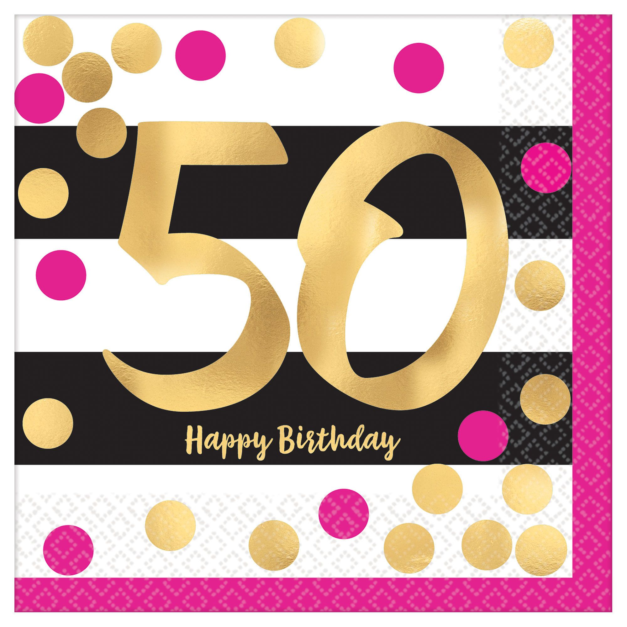 Pink & Gold Milestone 50 BN