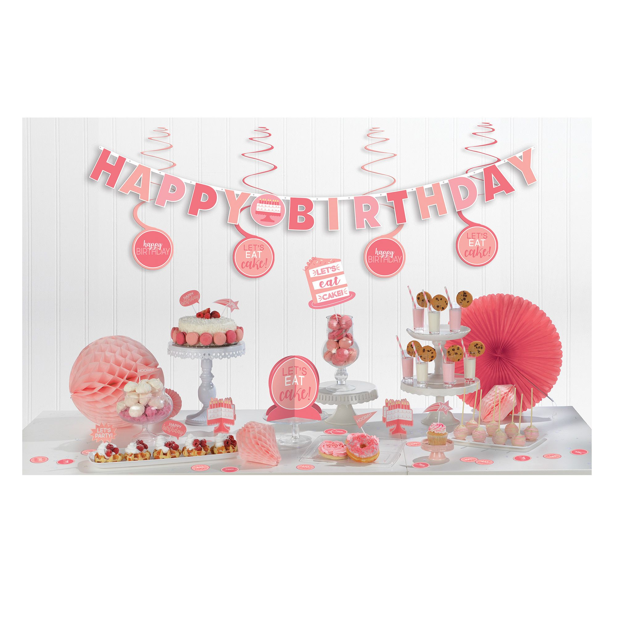 Bday Access Pinks Mini Deco Kit