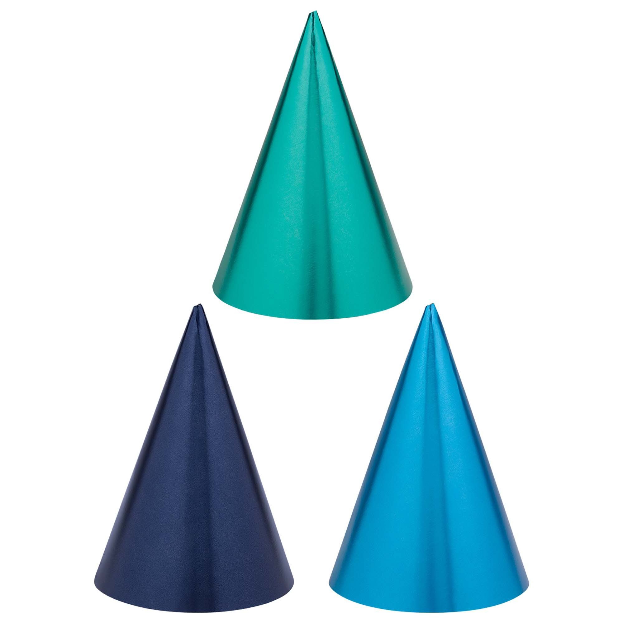 Bday Access Blues Cone Hats