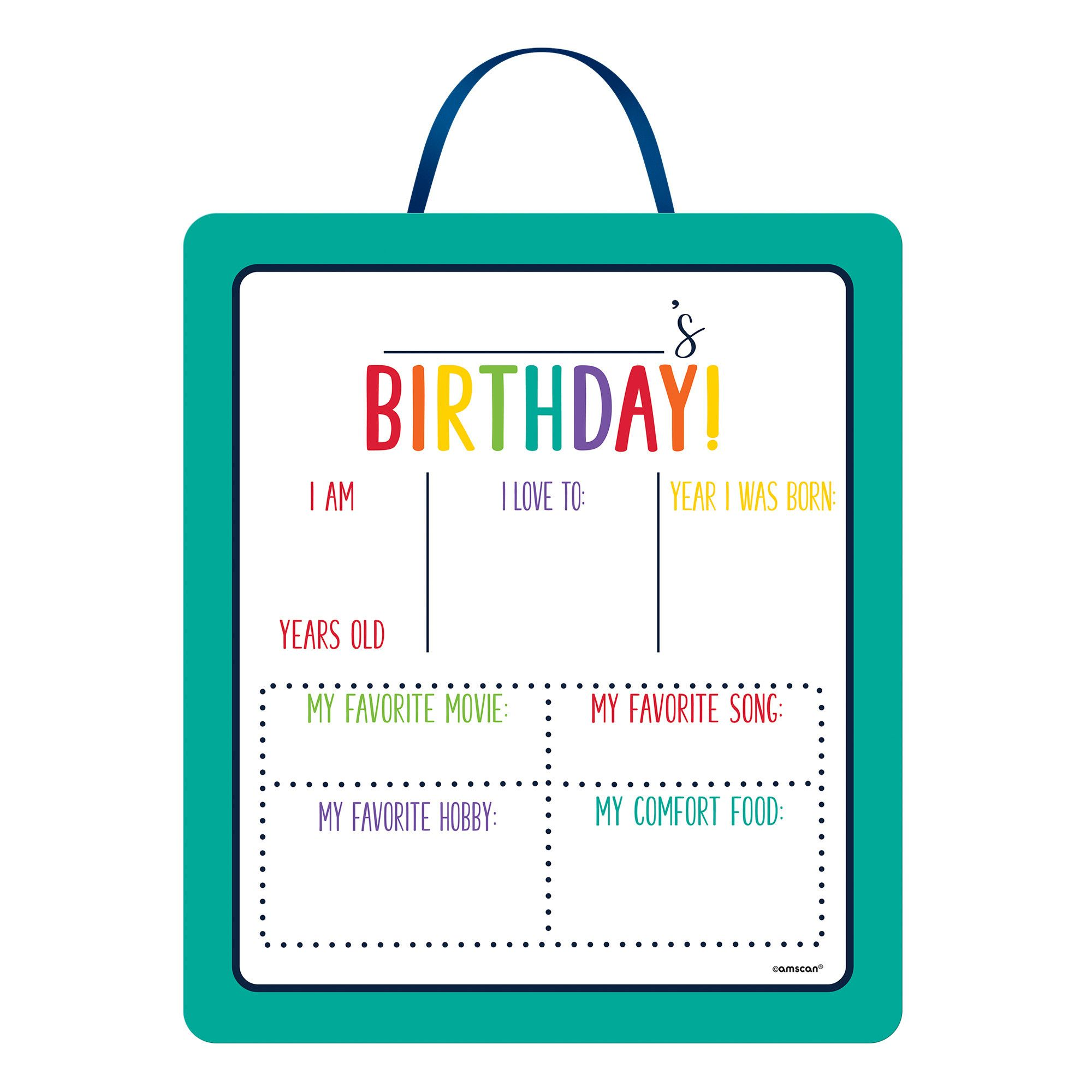 Bday Access Rainbow Sign