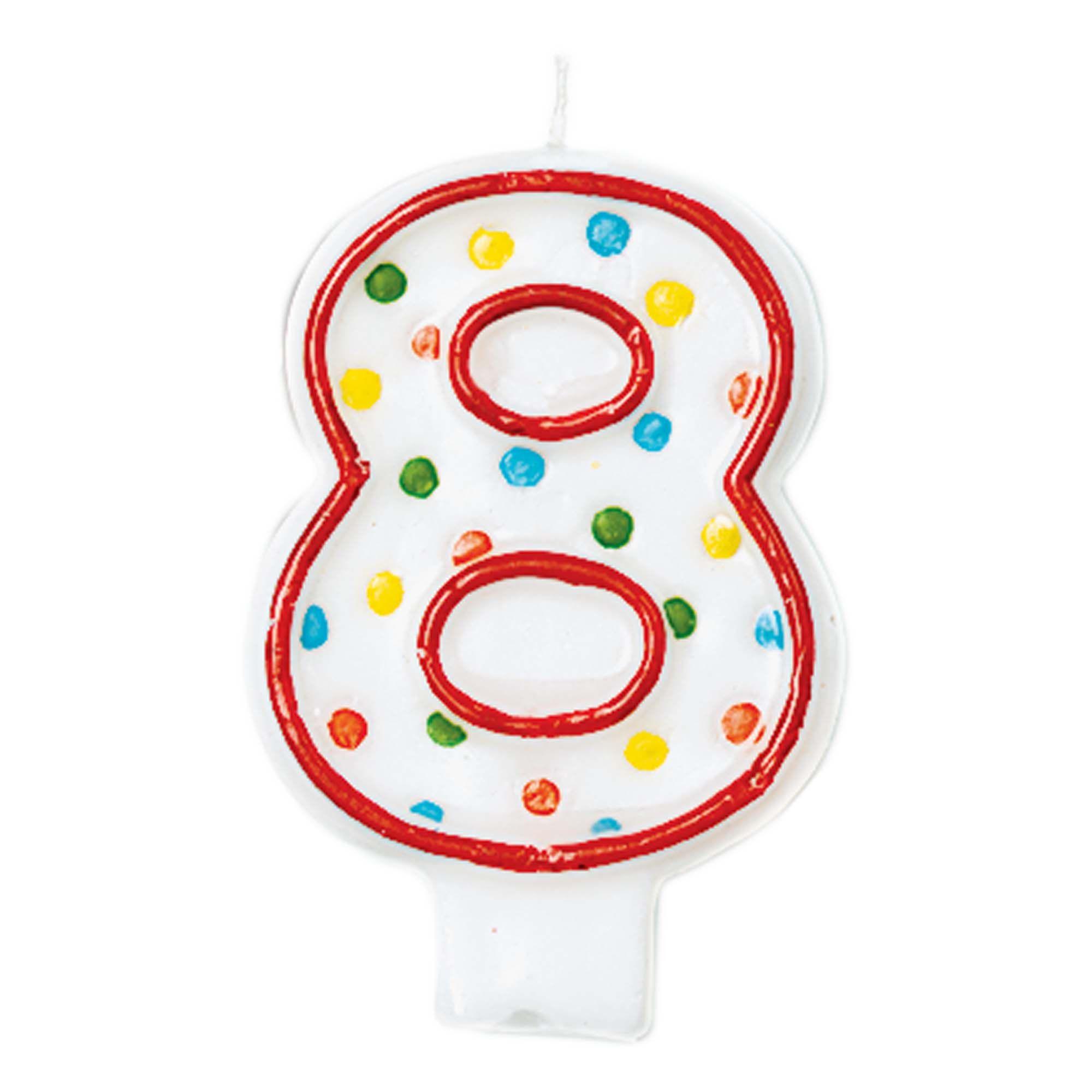 #8 Polka Dot Candle