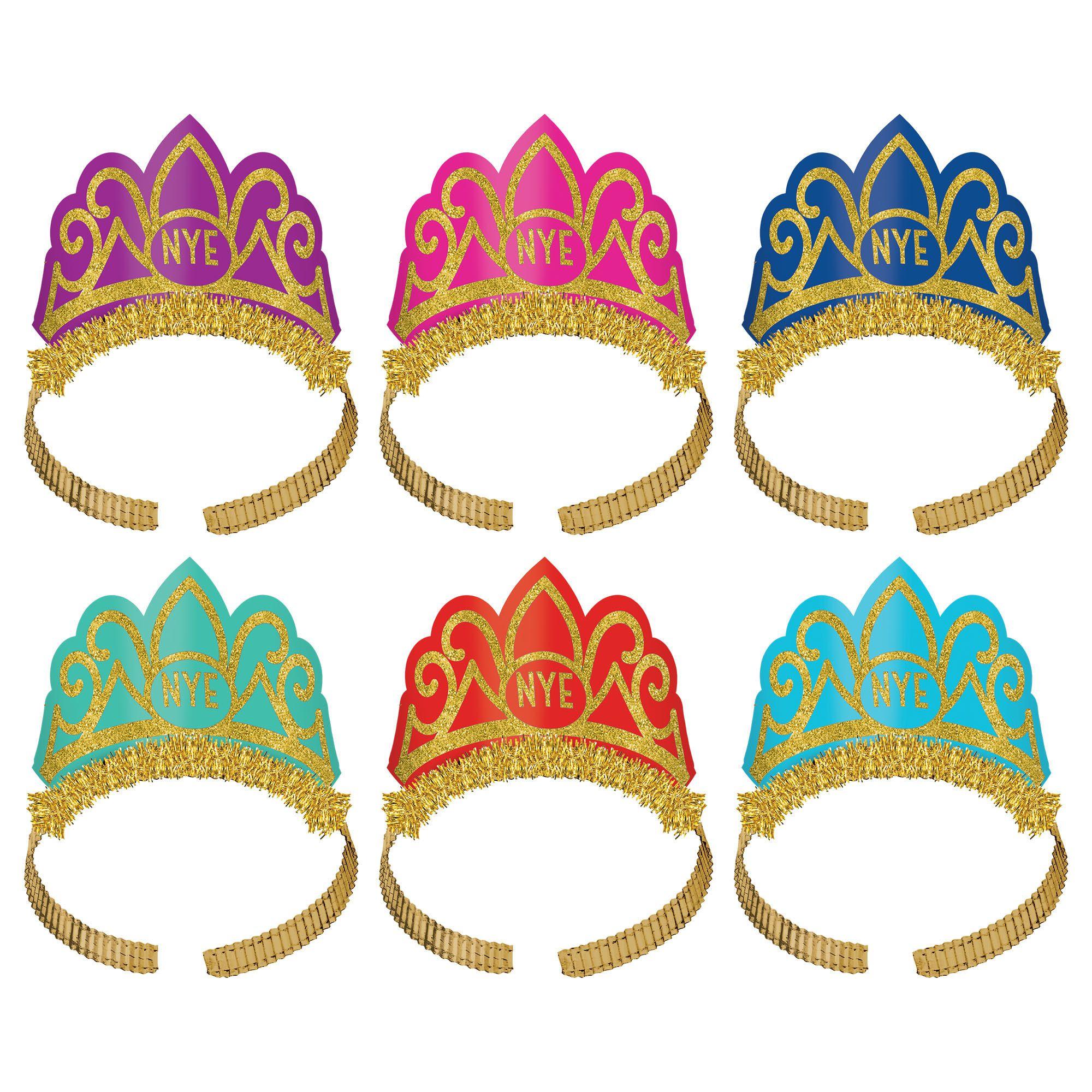 NY Glitter Tiara Multicolored