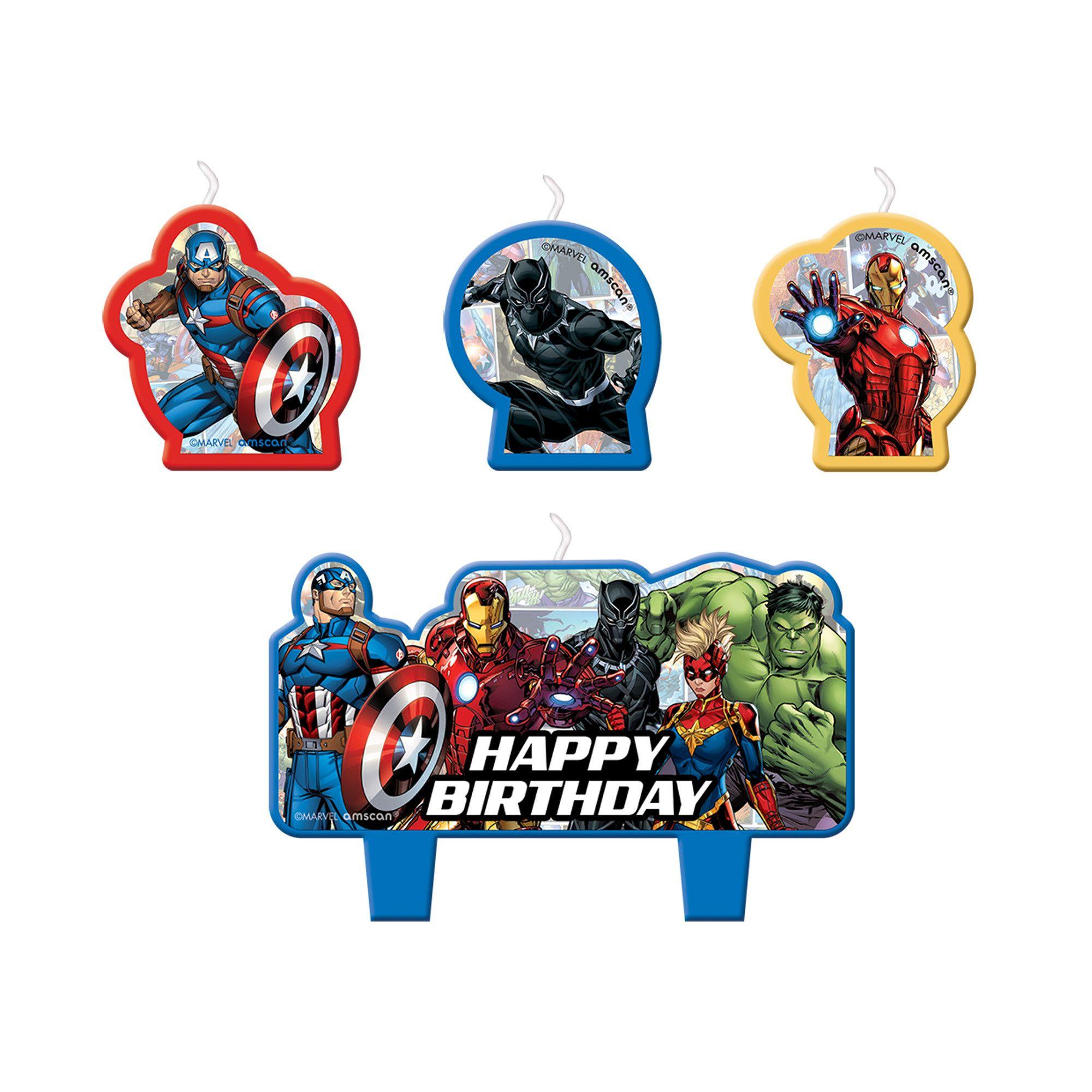 Avengers Powers Unite Bday Candle Set
