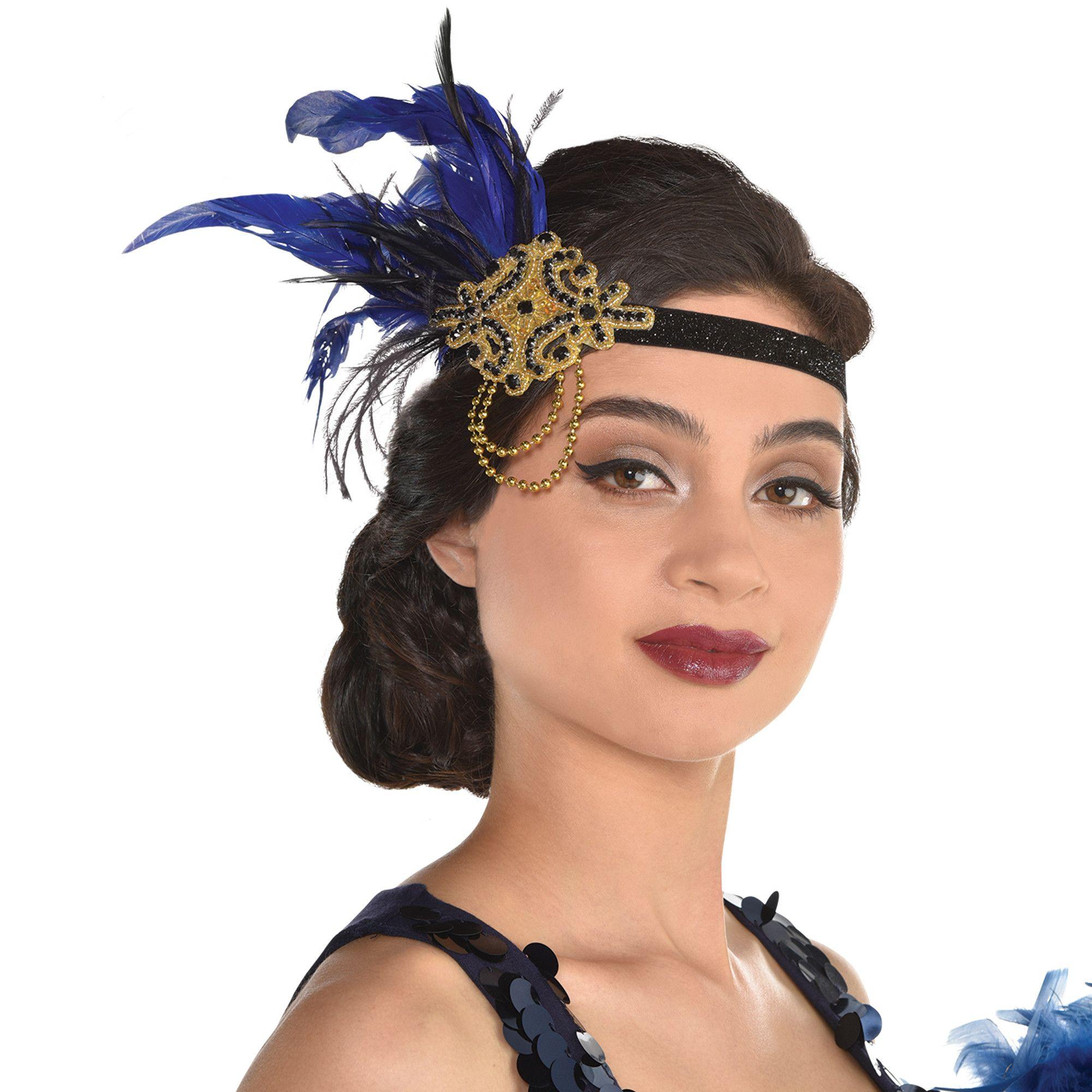Jeweled Feather Headband