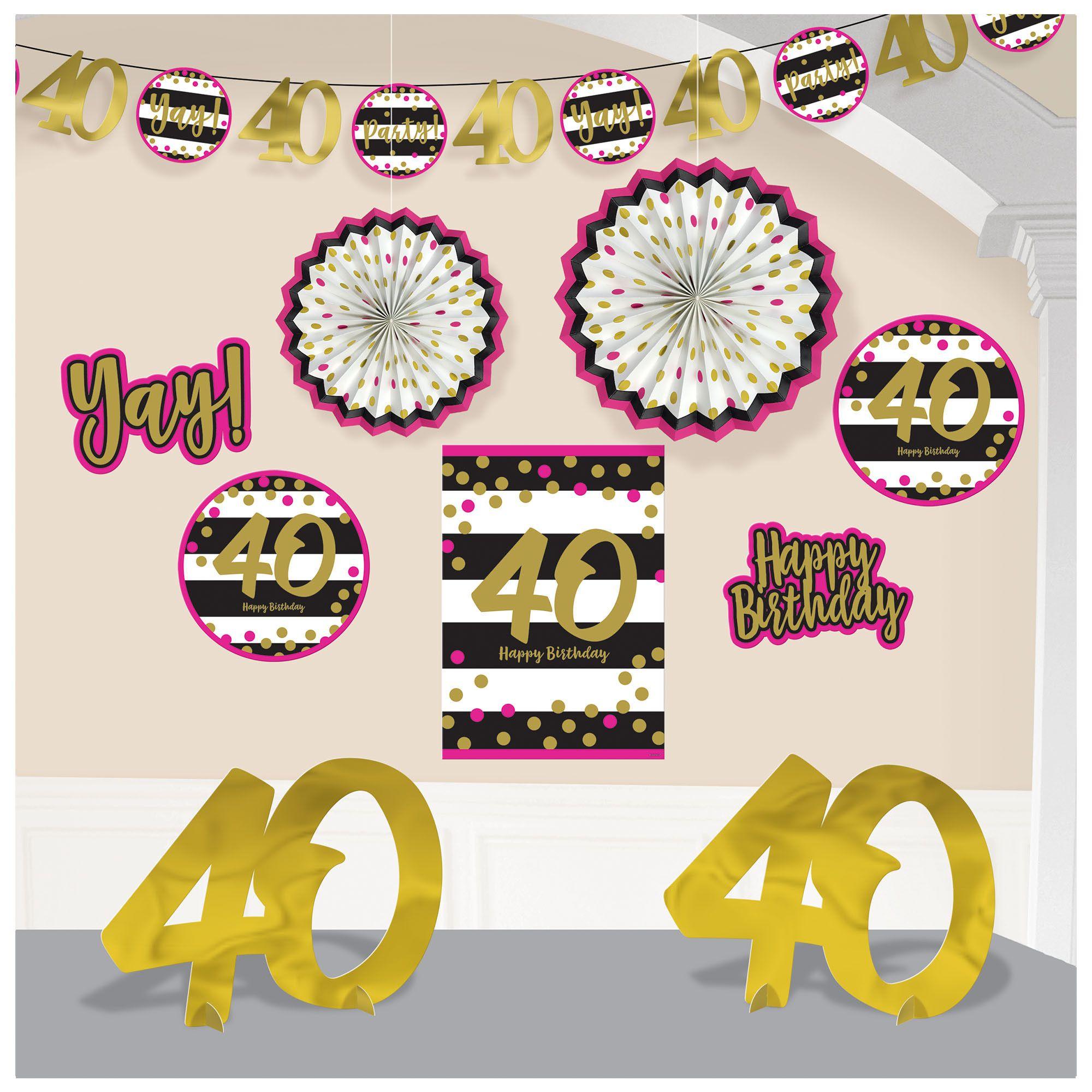 Pink & Gold 40 Deco Kit