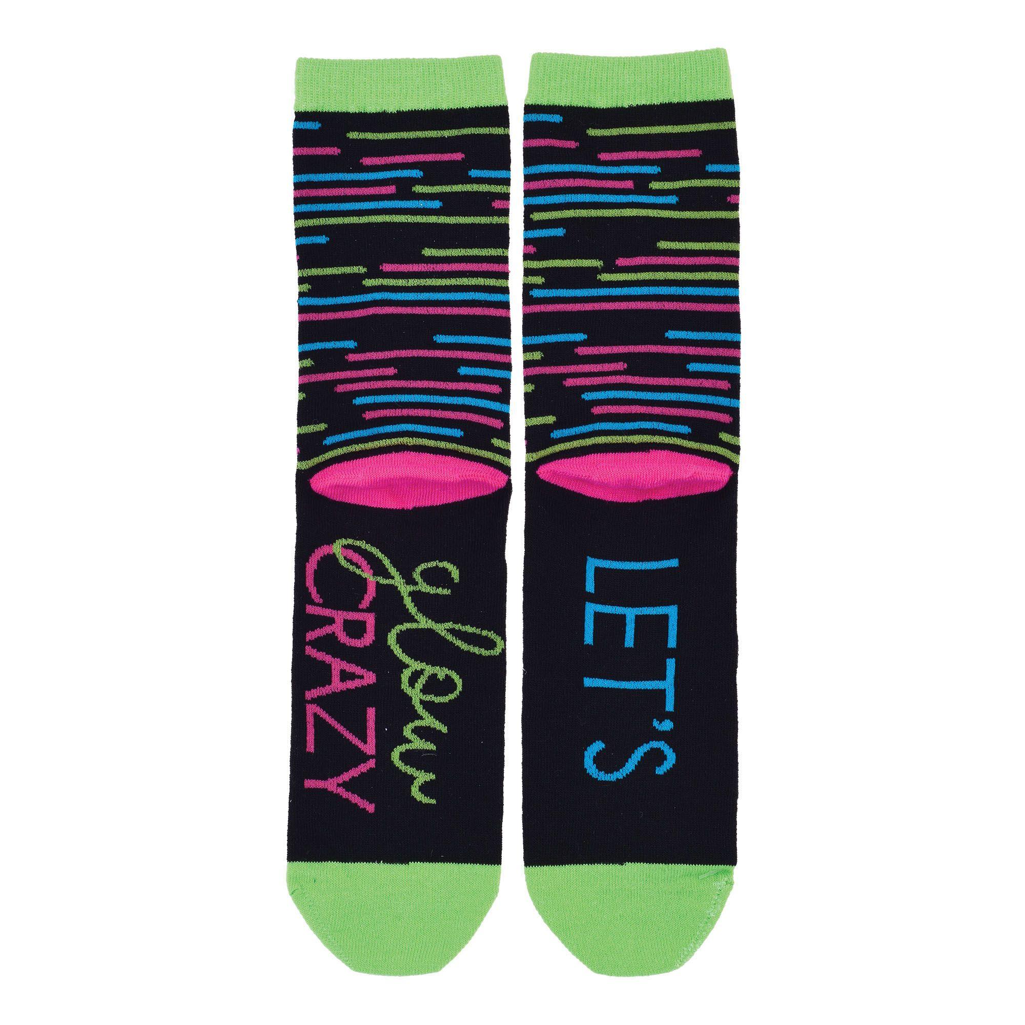 Let's Glow Crazy Crew Socks