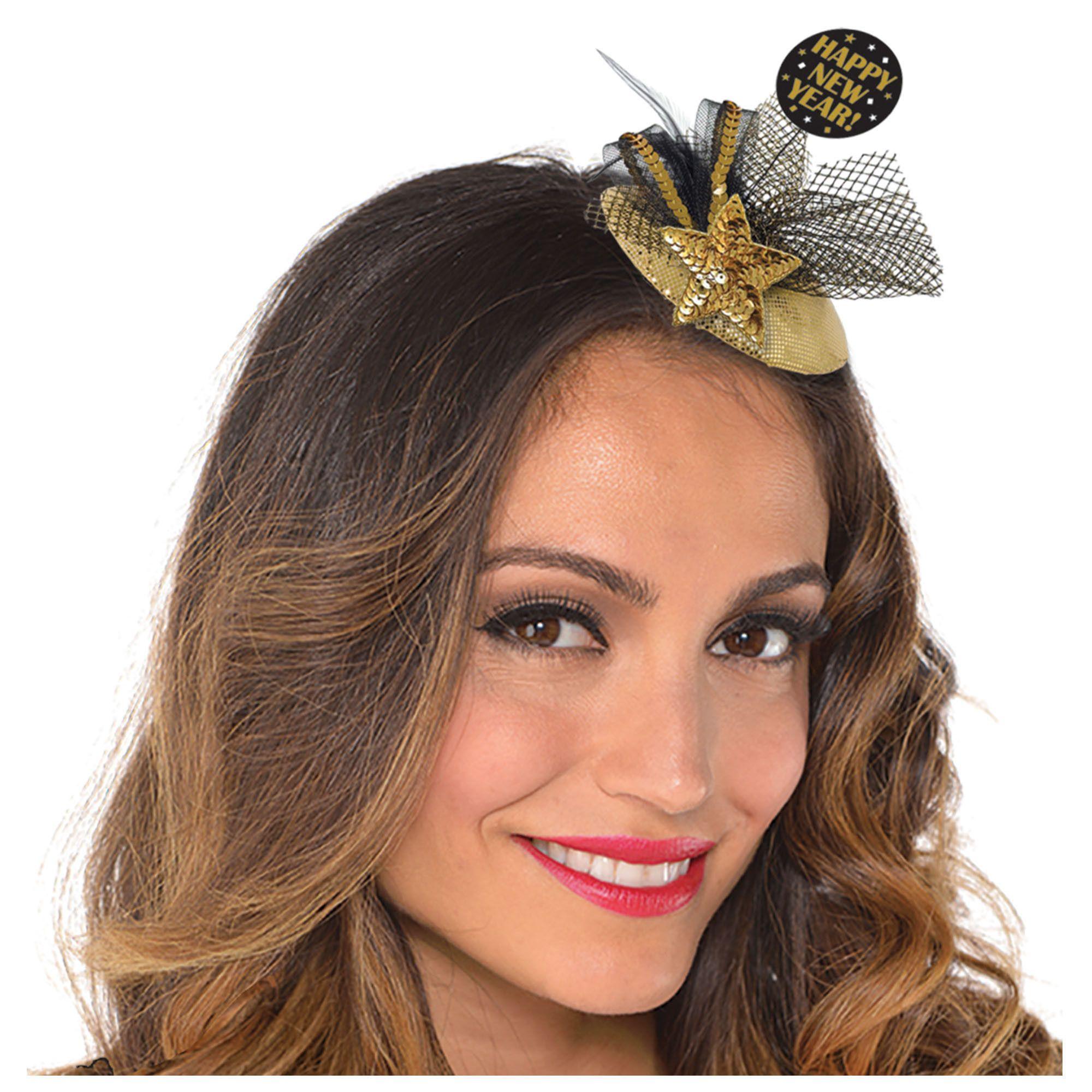 Glitzy Clip-On Couture Hat