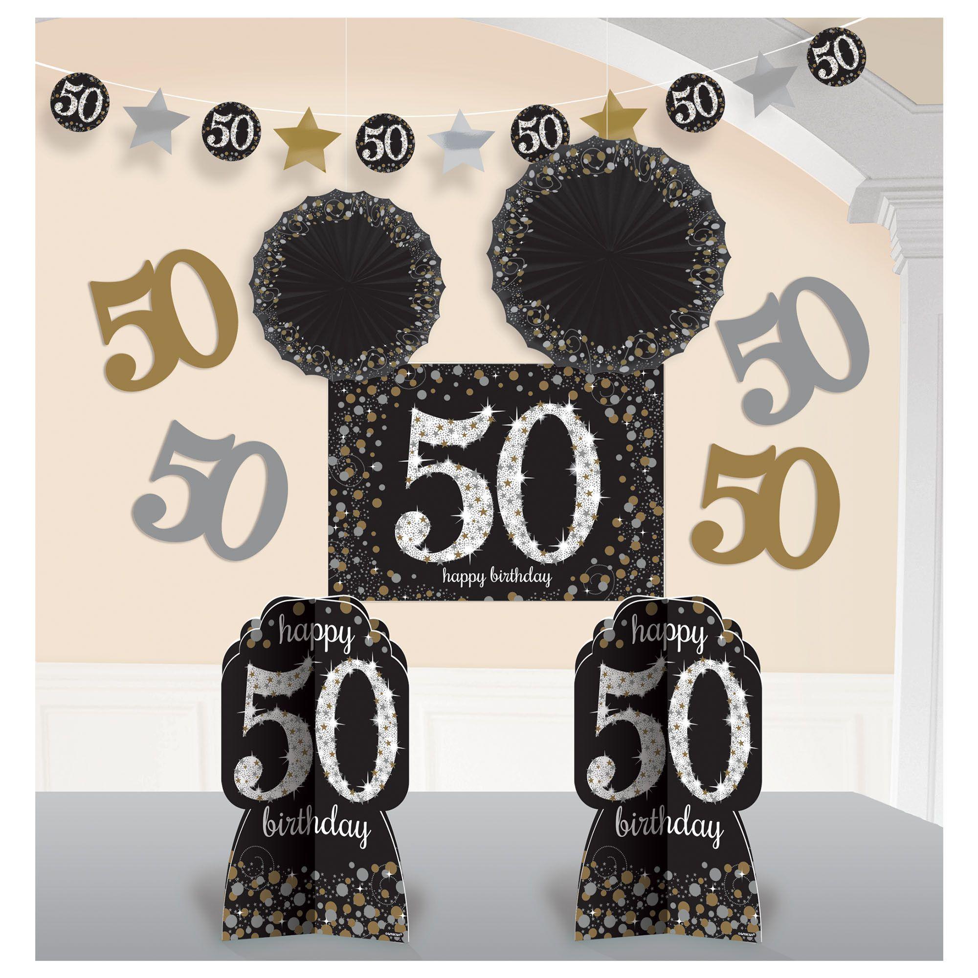 Sparkling 50th Room Deco Kit