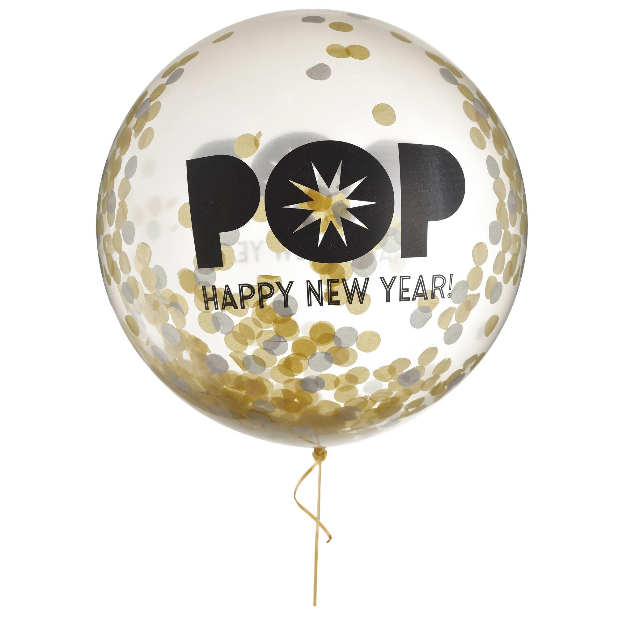 New Years Confetti Balloon