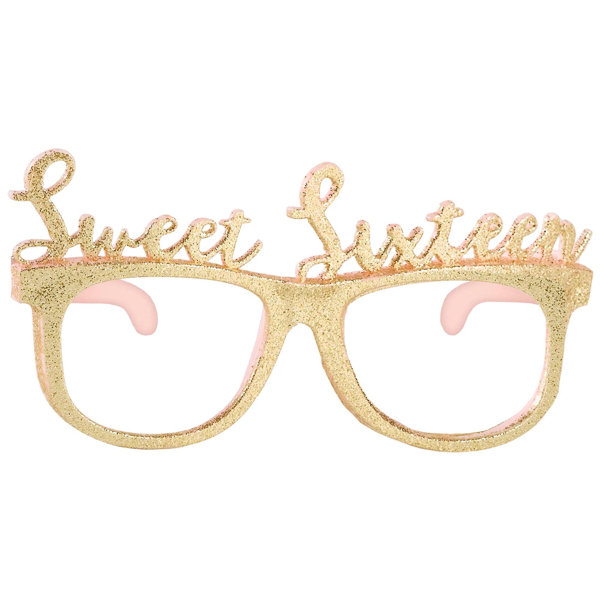 16 Blush Glitter Glasses