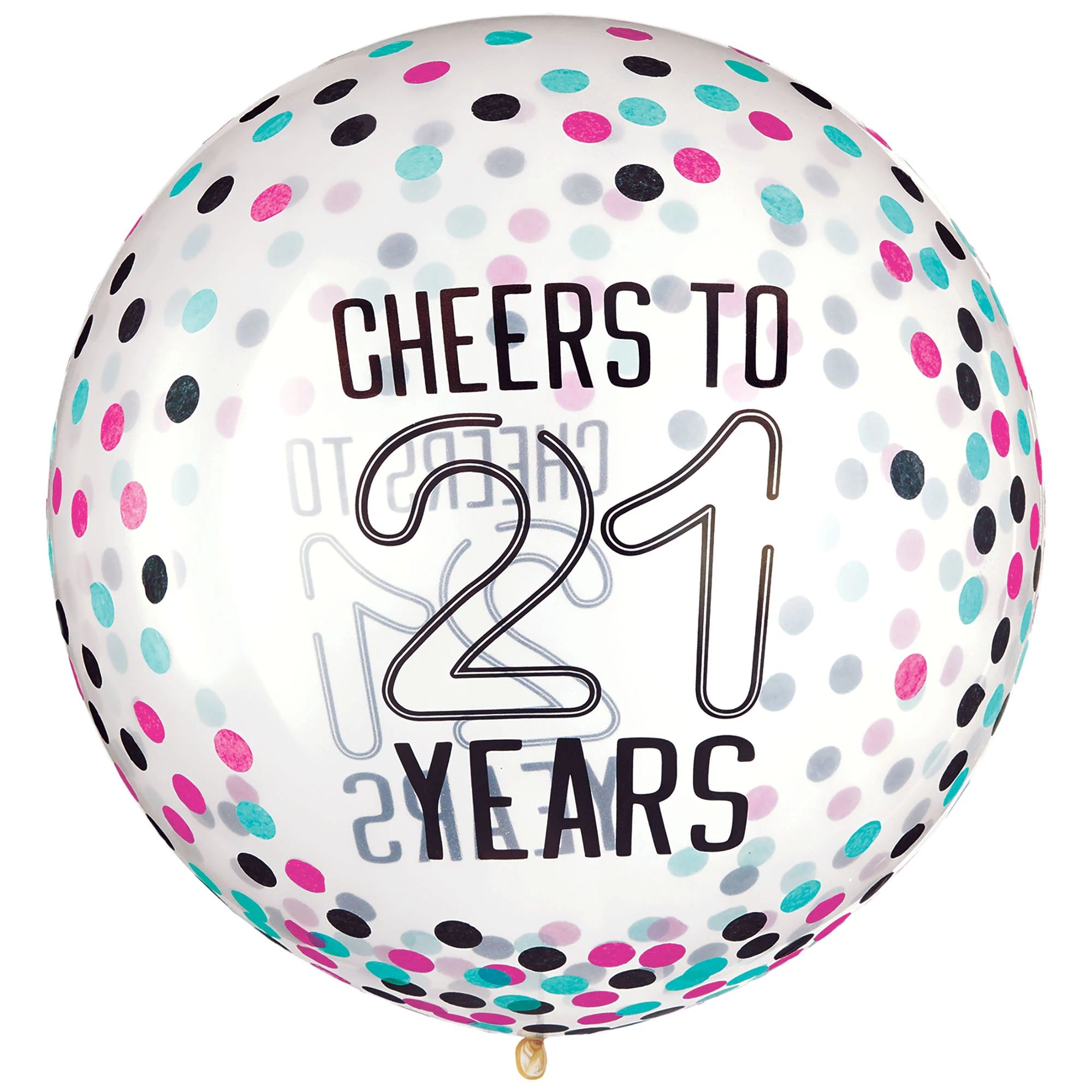 Finally 21 Latex Balloon w/Confetti