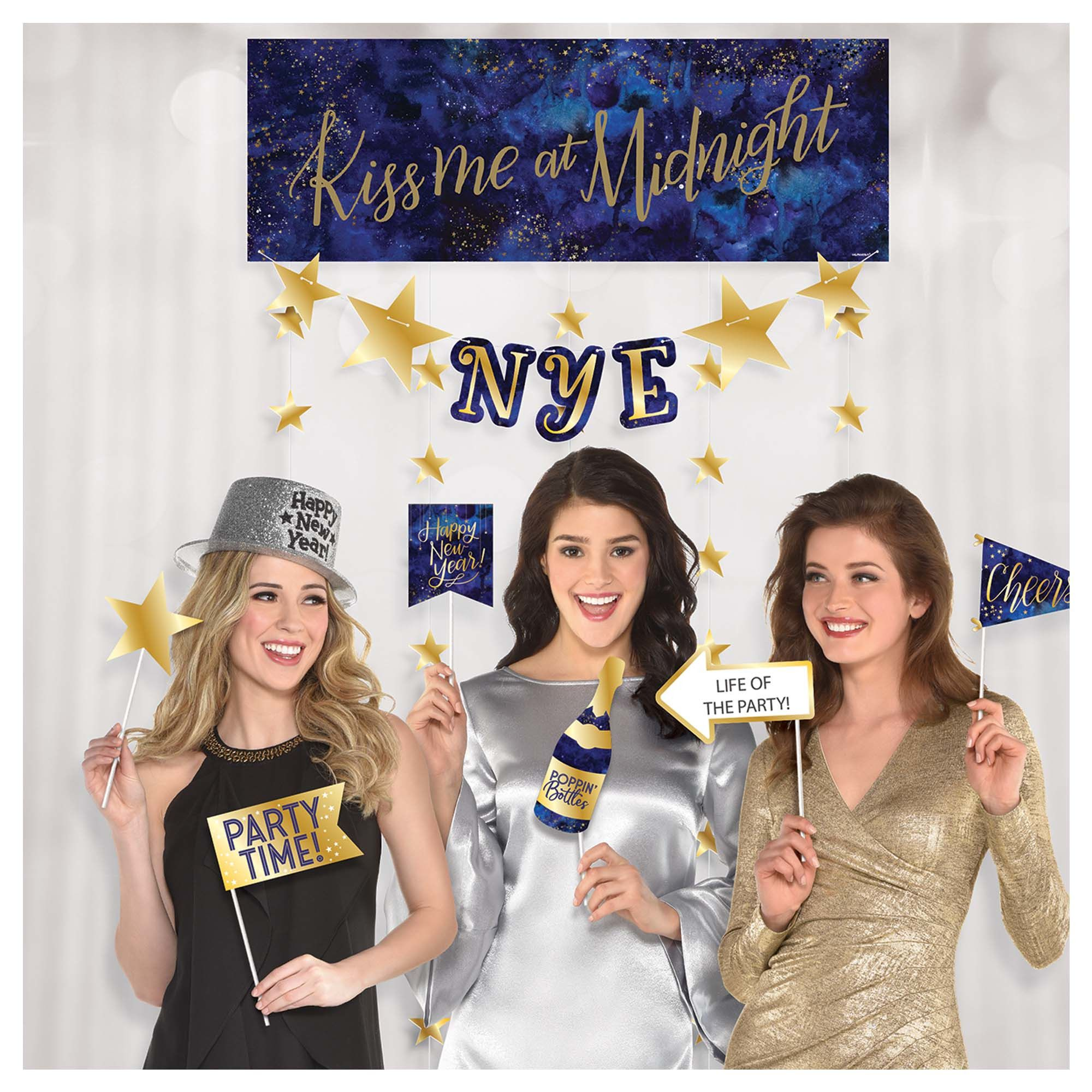 Midnight NYE Photo Booth Kit