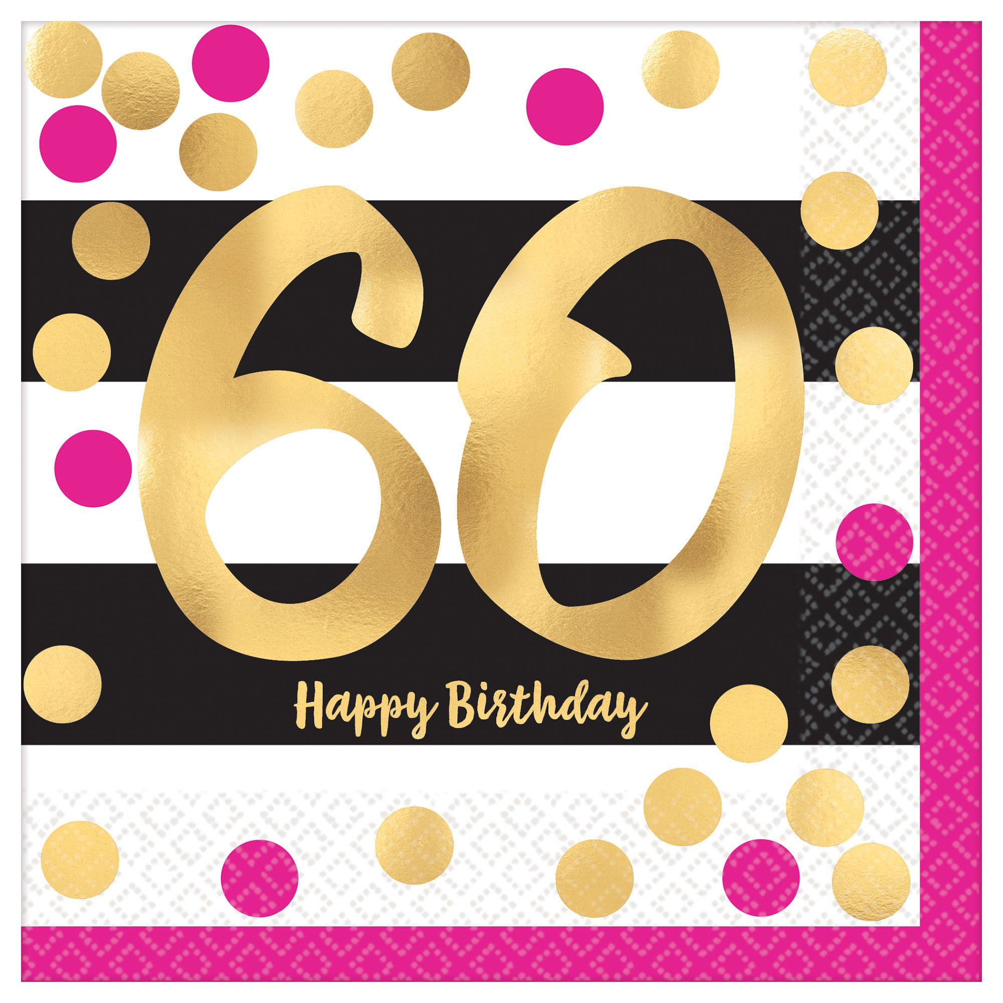 Pink & Gold Milestone 60 LN
