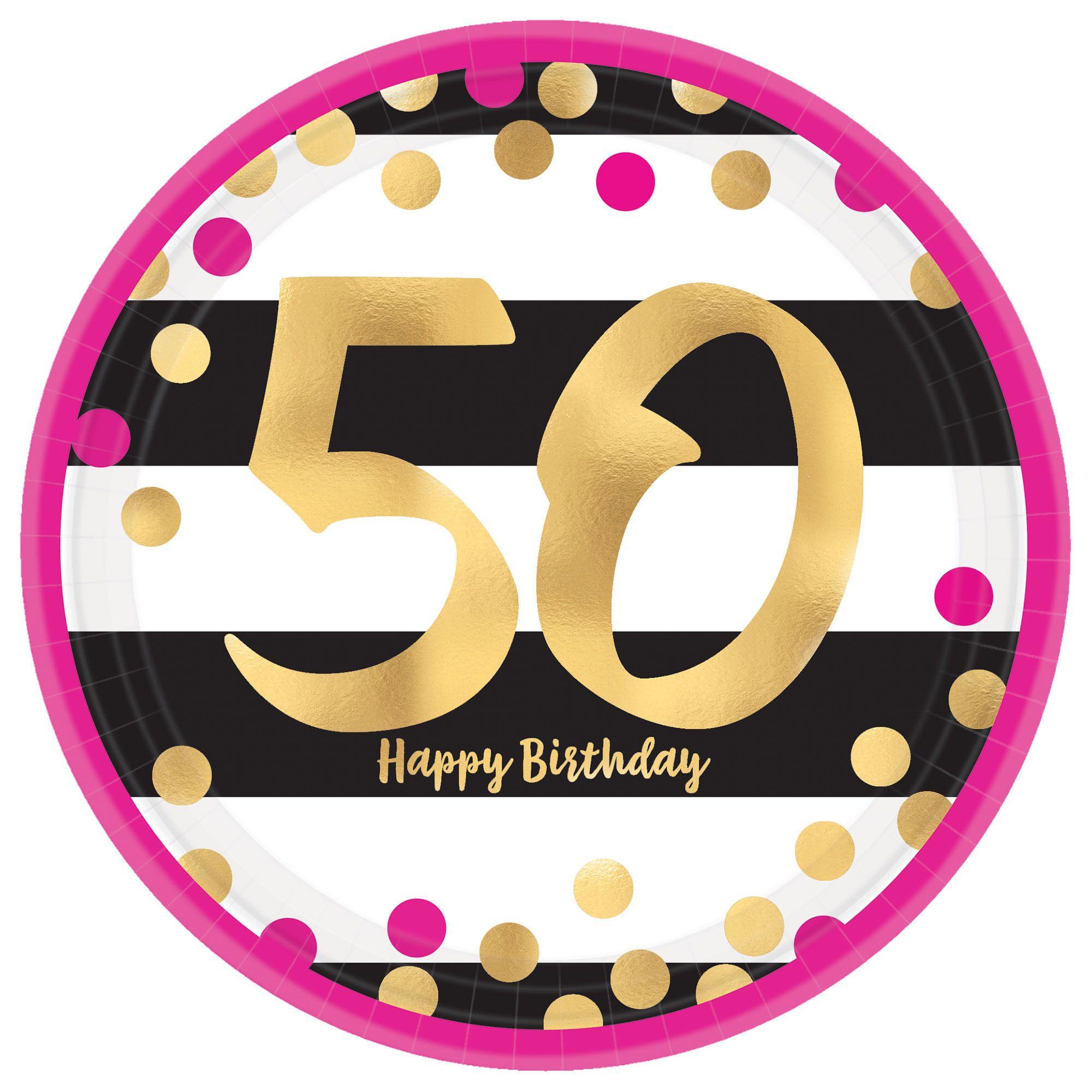 Pink & Gold Milestone 50 9