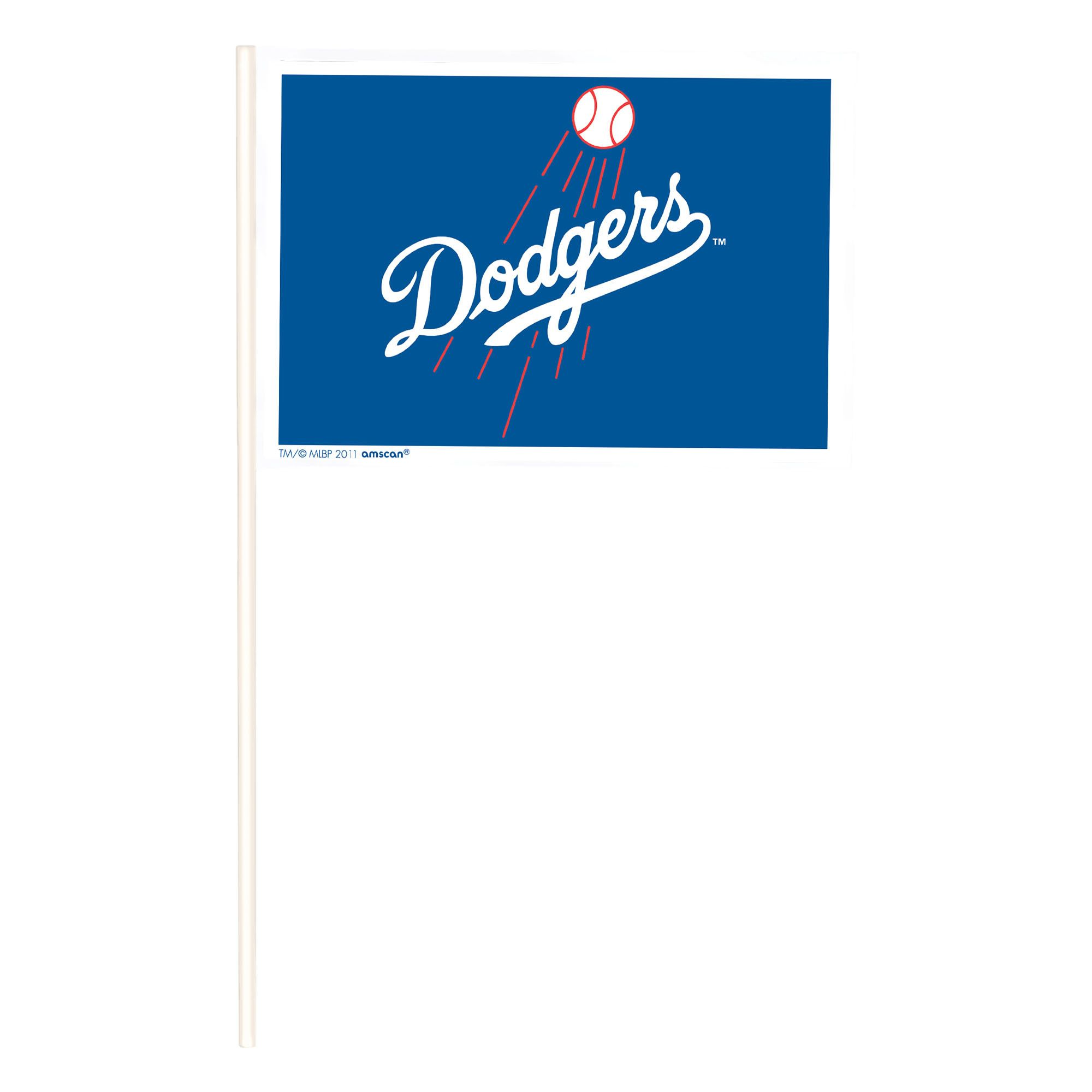 LA Dodgers Plastic Flags