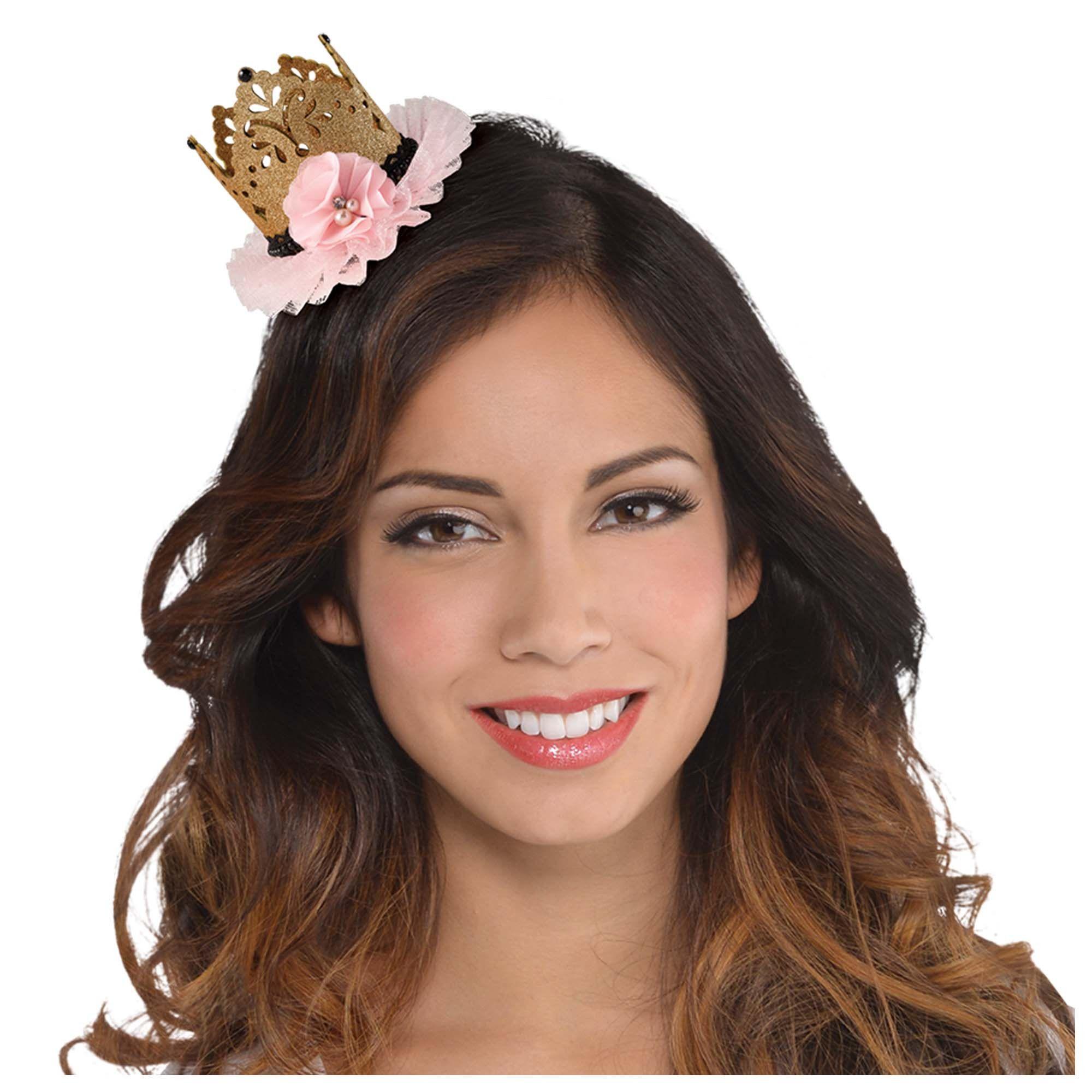 16 Blush Crown Hair Clip