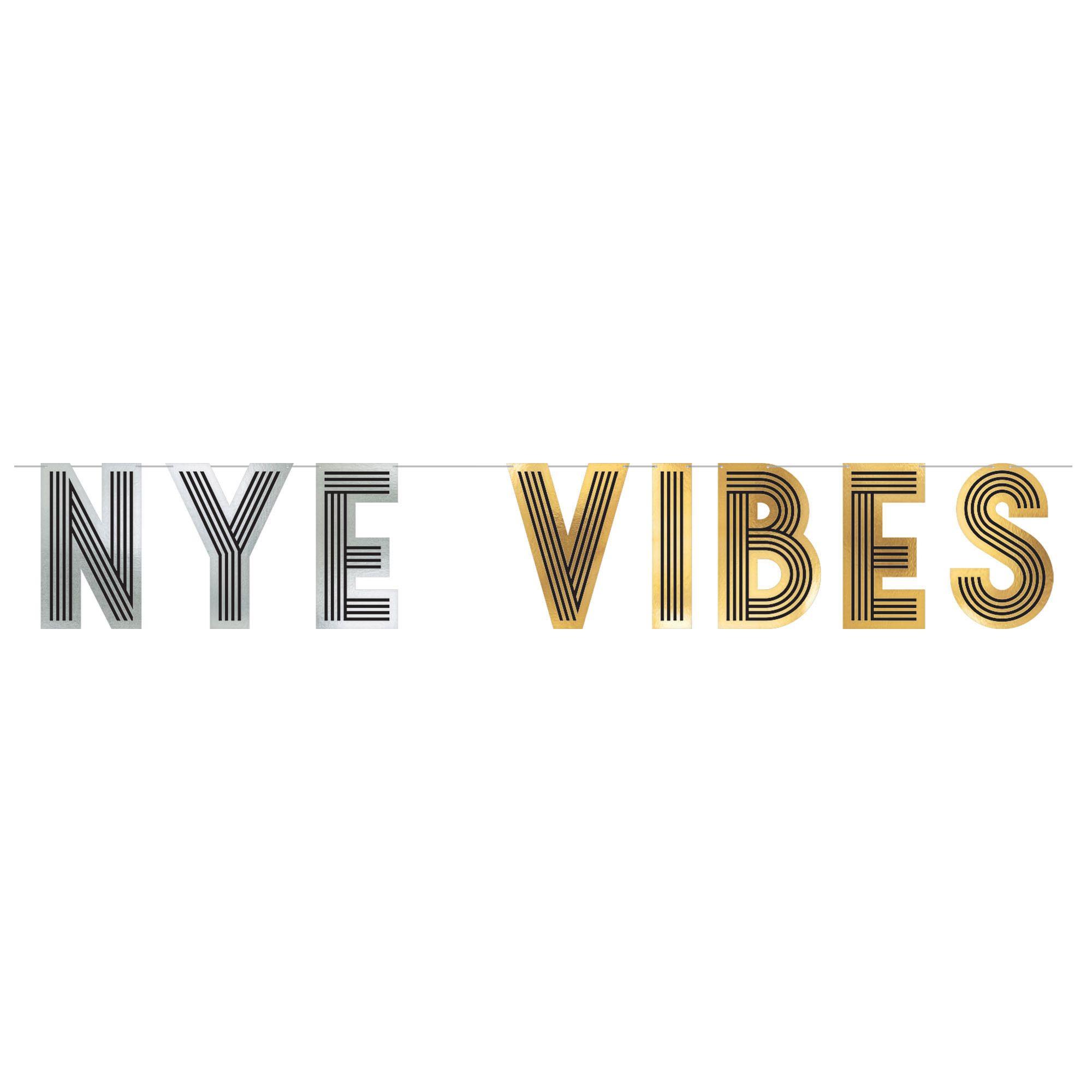 NYE Vibes Letter Banner