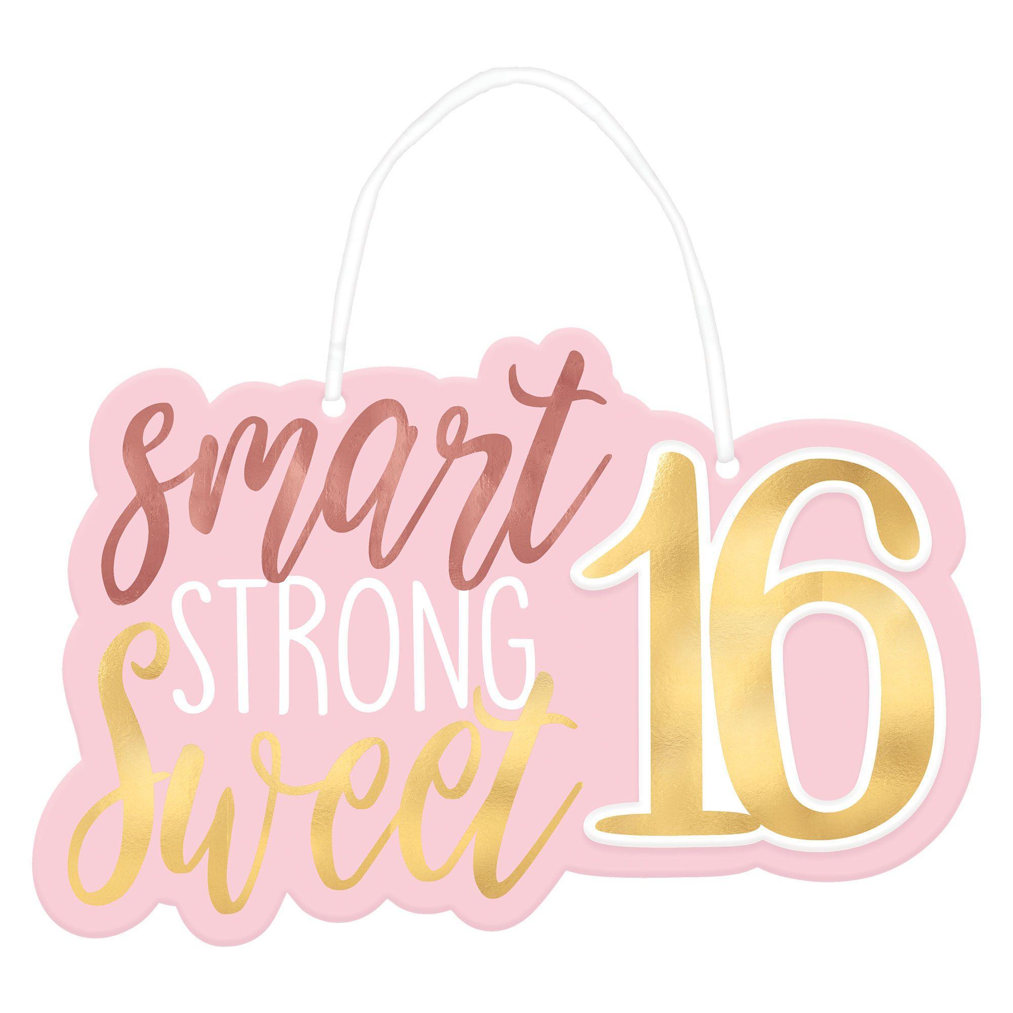 16 Blush Hanging Sign