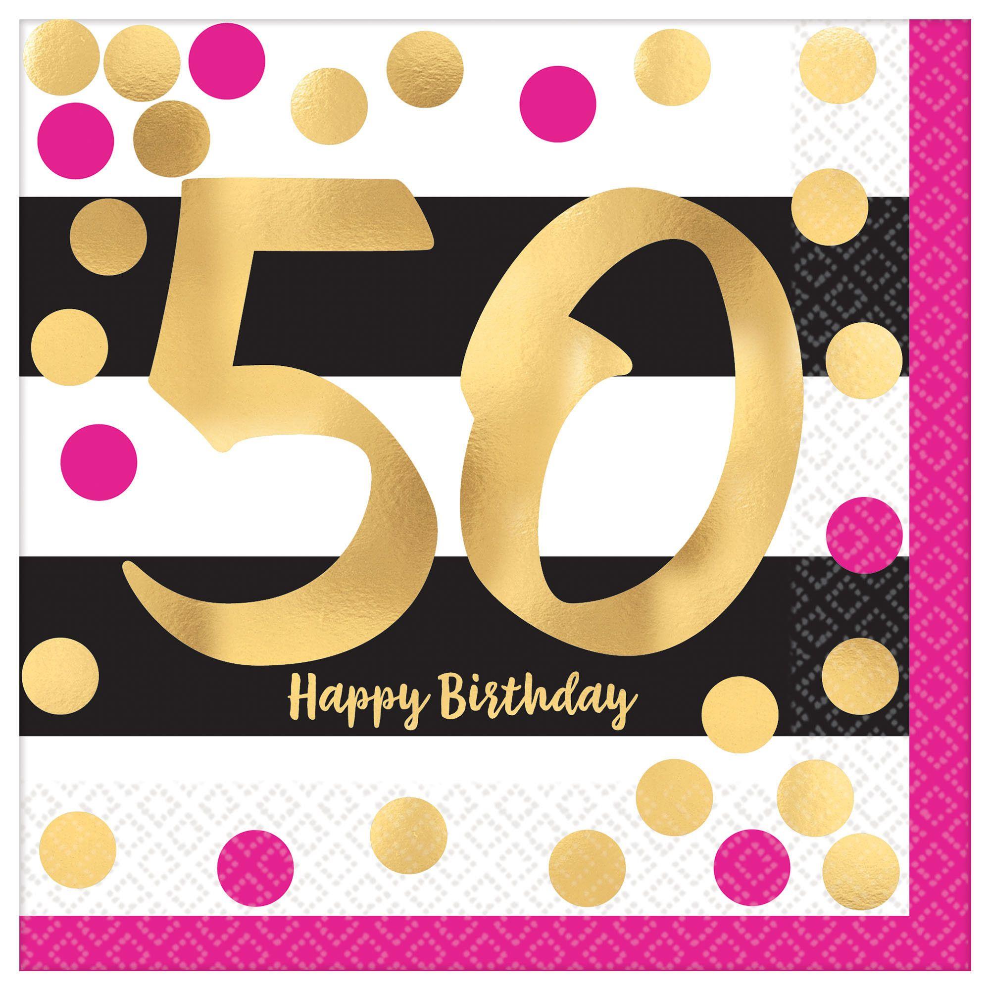 Pink & Gold Milestone 50 LN