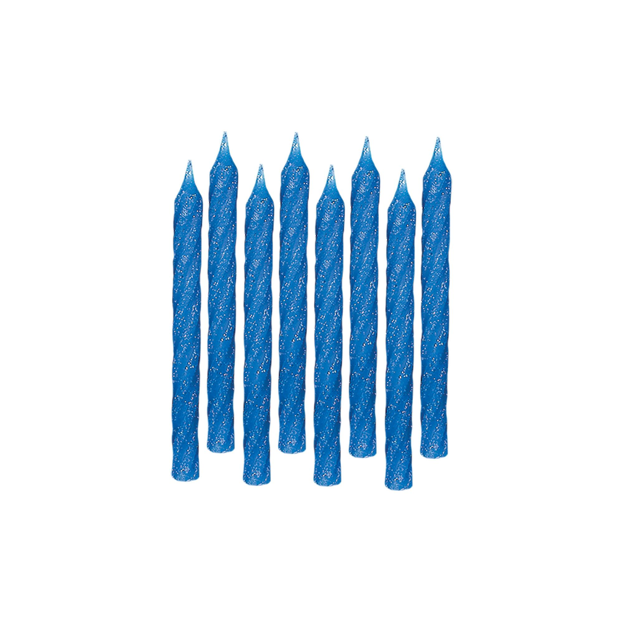 Blue Large Glitter Spiral