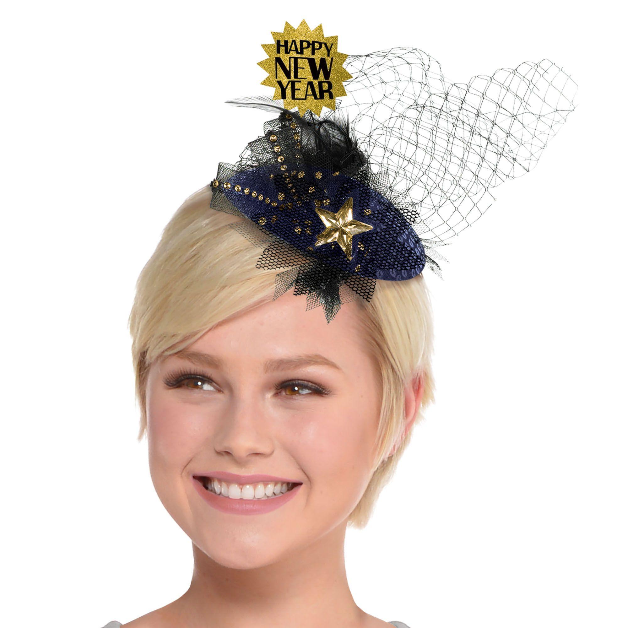 Midnight NYE Clip-on Hat