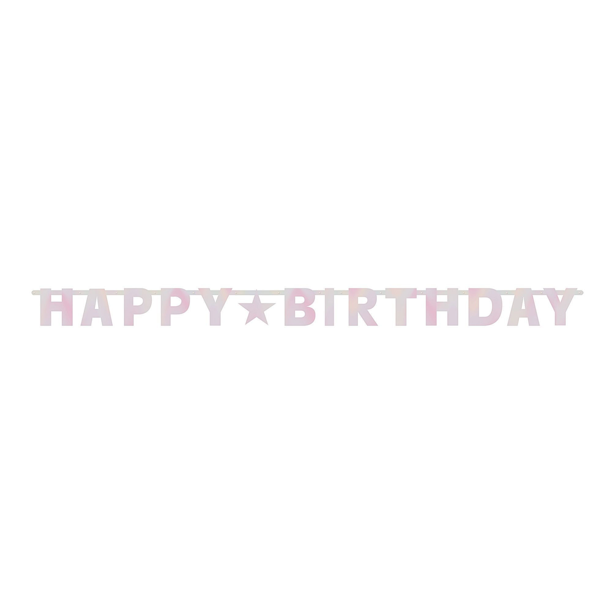 Bday Access Pinks Letter Banner