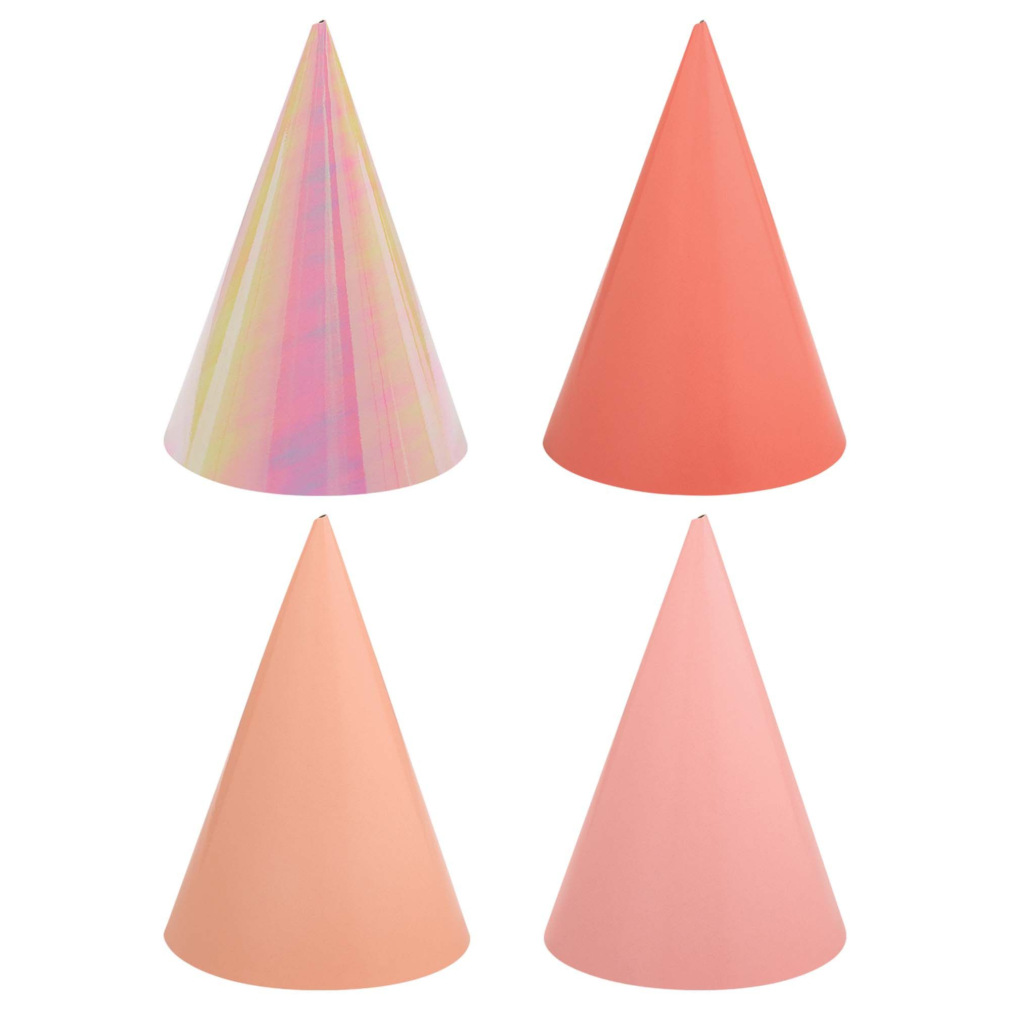 Bday Access Pink Cone Hats