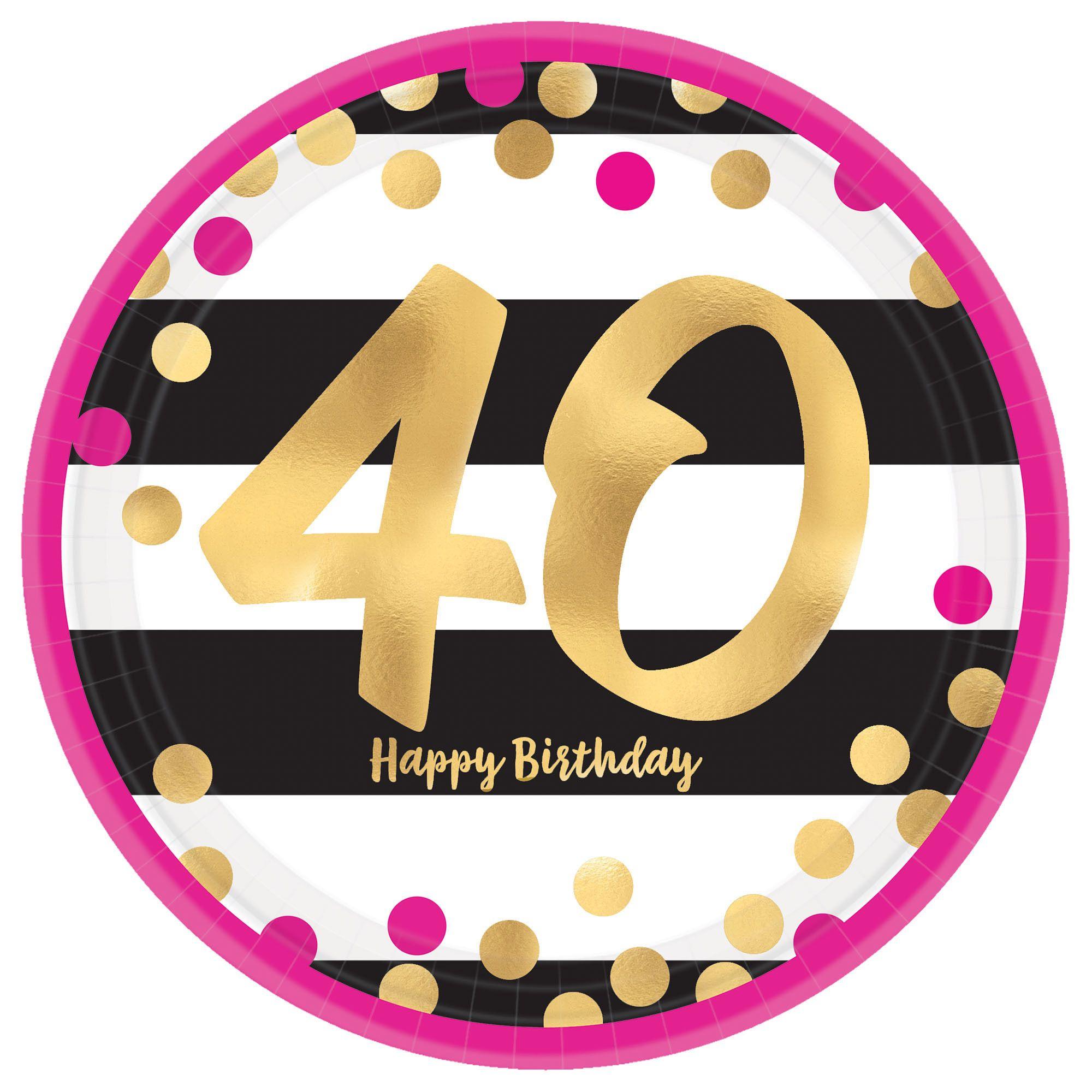 Pink & Gold Milestone 40 9