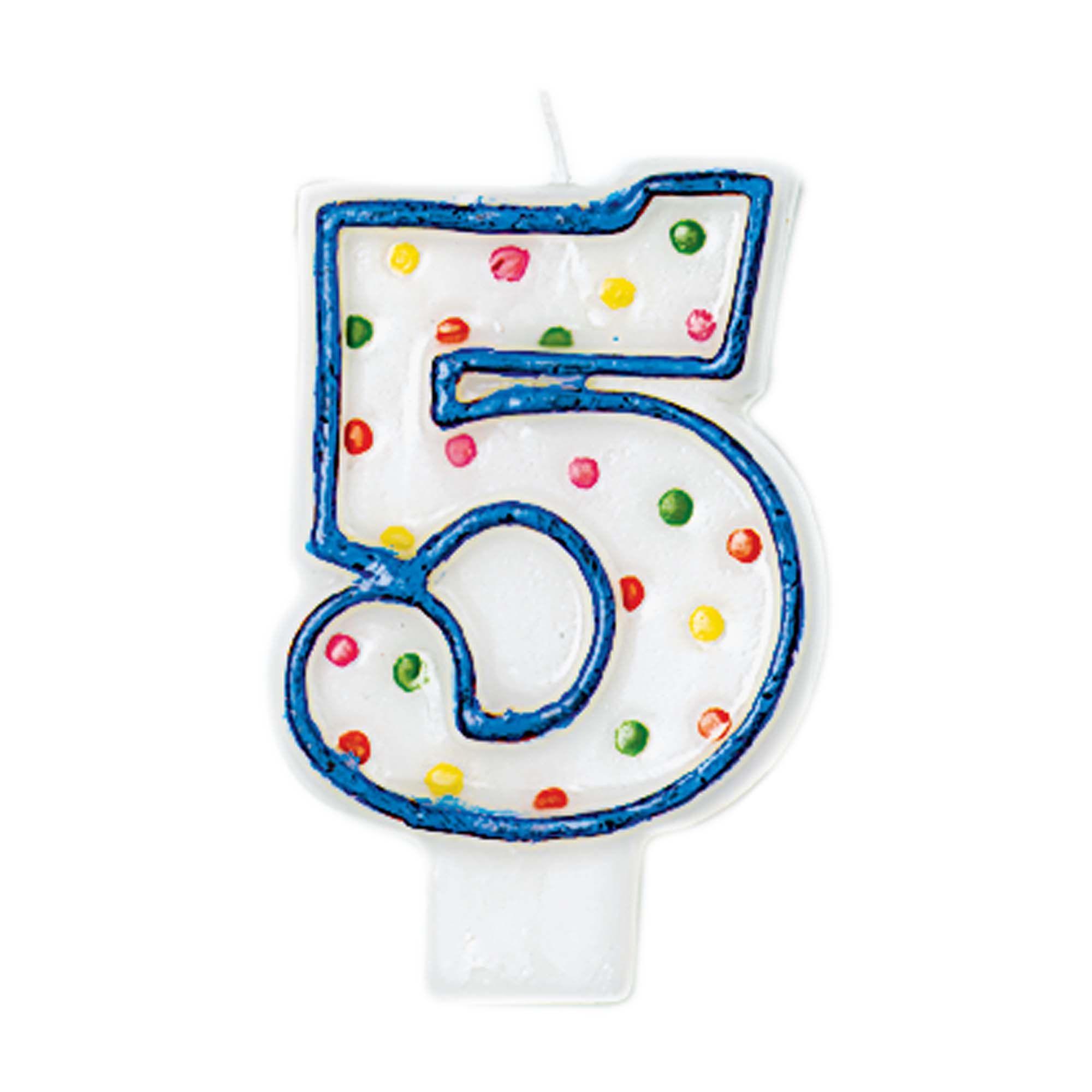 #5 Polka Dot Candle