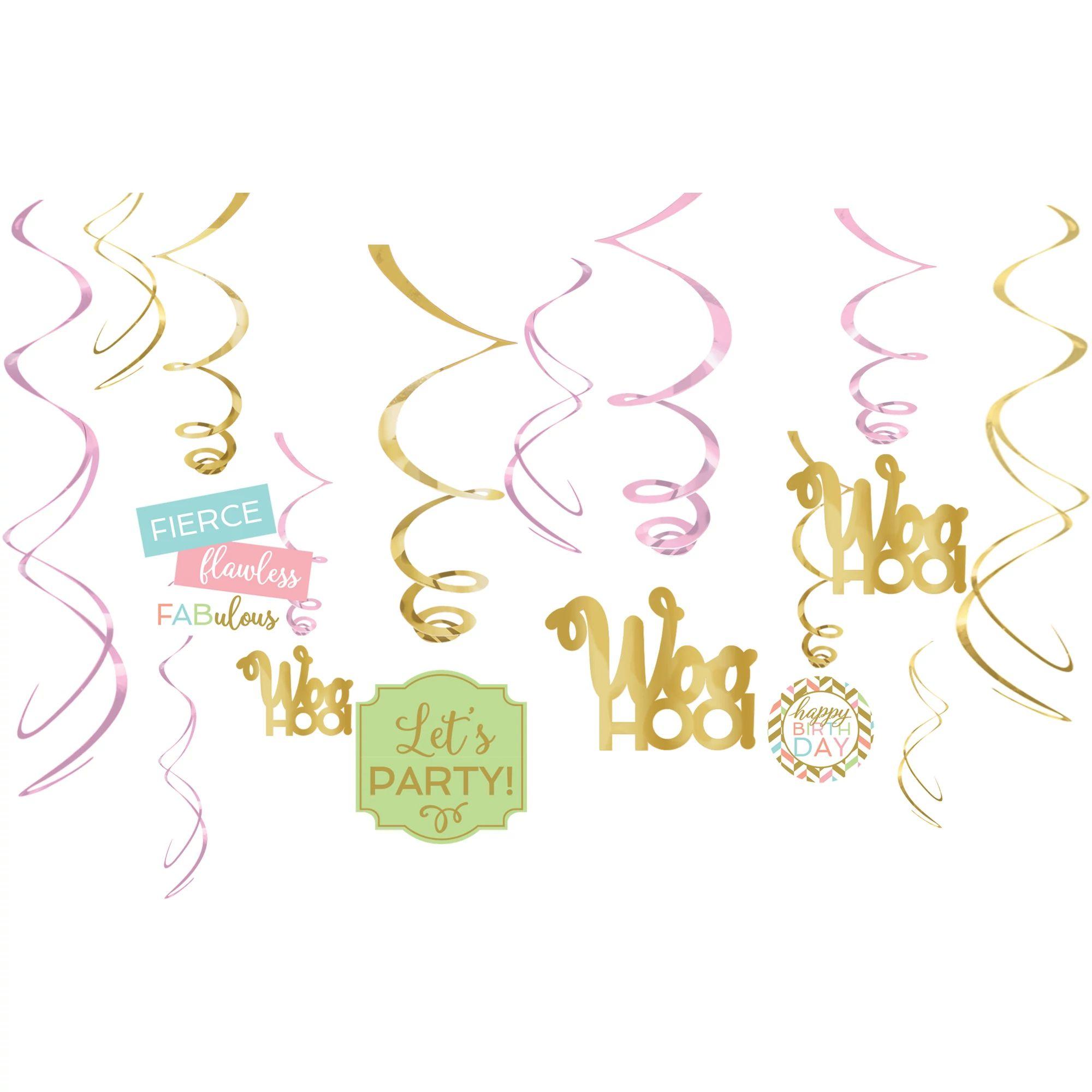 Confetti Fun Swirl Deco