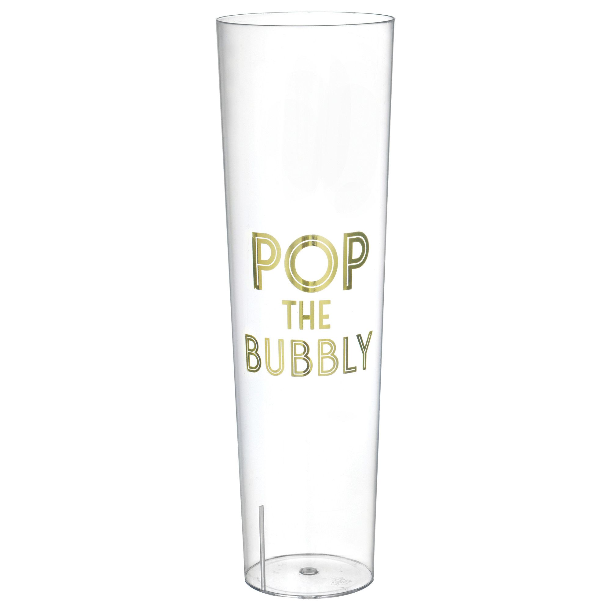 Pop The Bubbly Stemless Champagne Glass 8ct