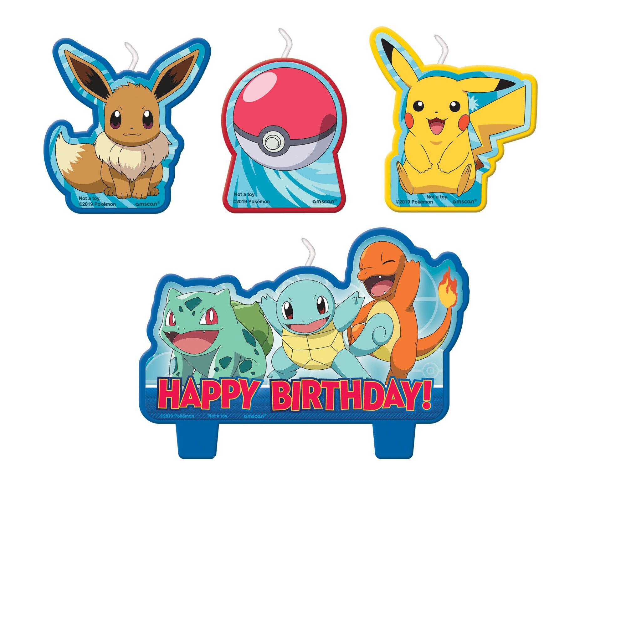 Pokemon BDay Candle Set