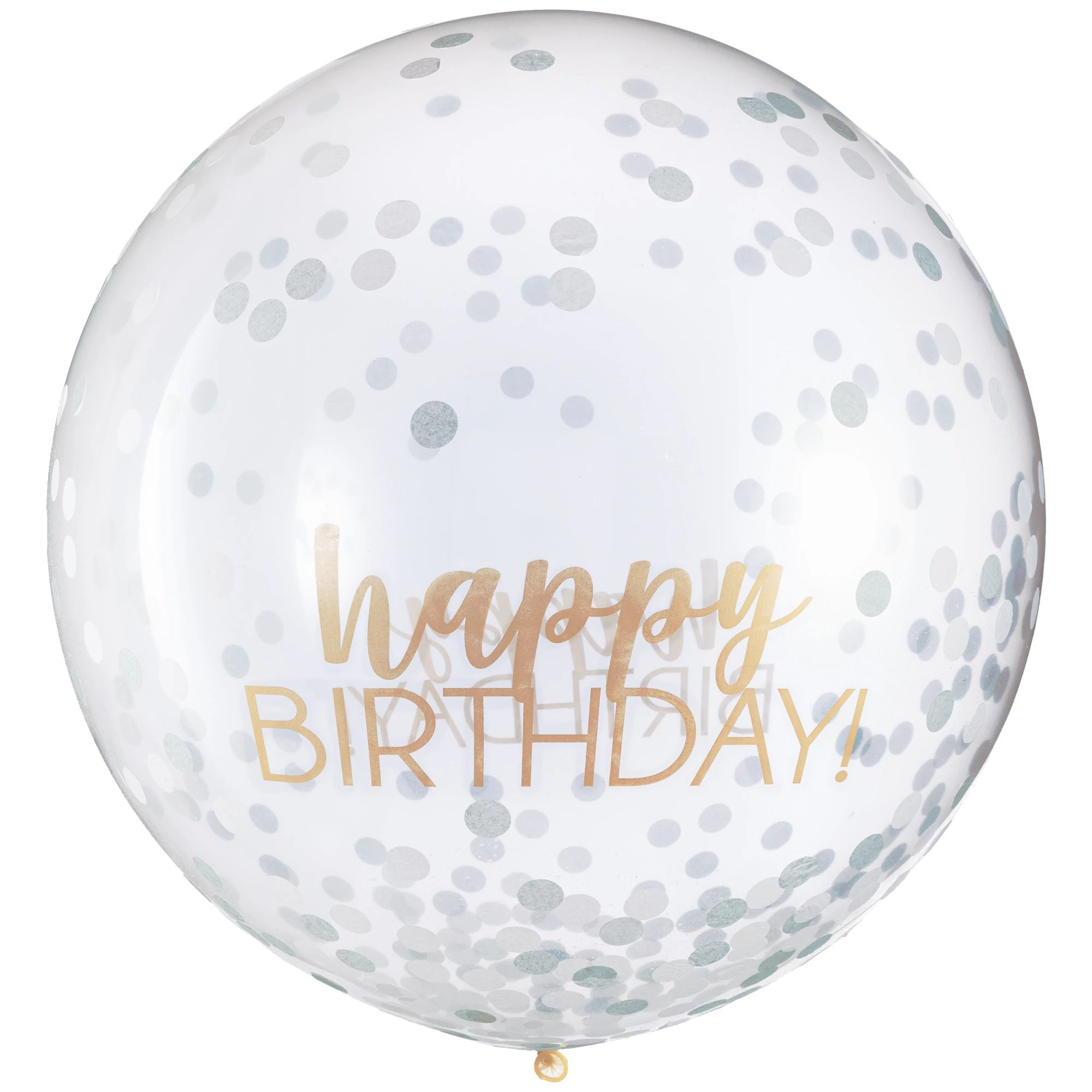 Bday Access S&G Latex Balloon w/Confetti