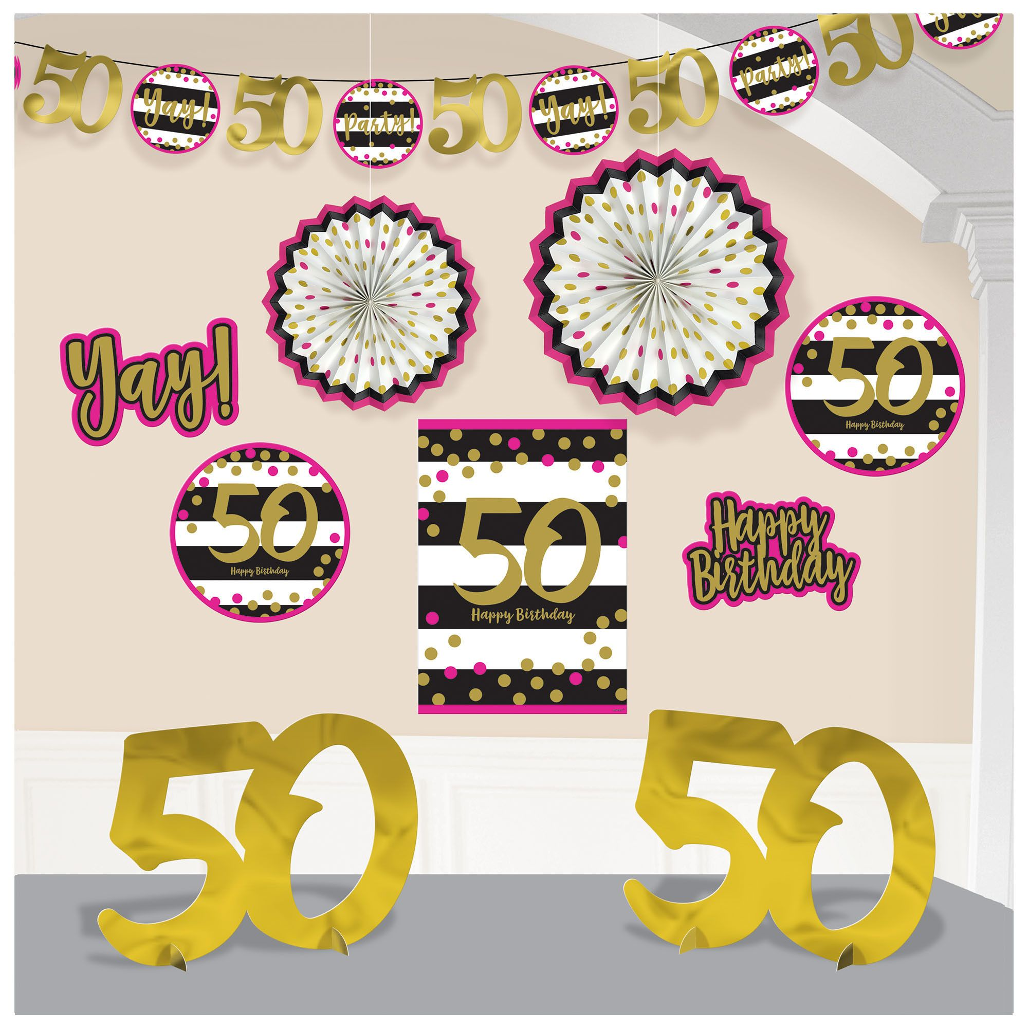 Pink & Gold 50 Deco Kit