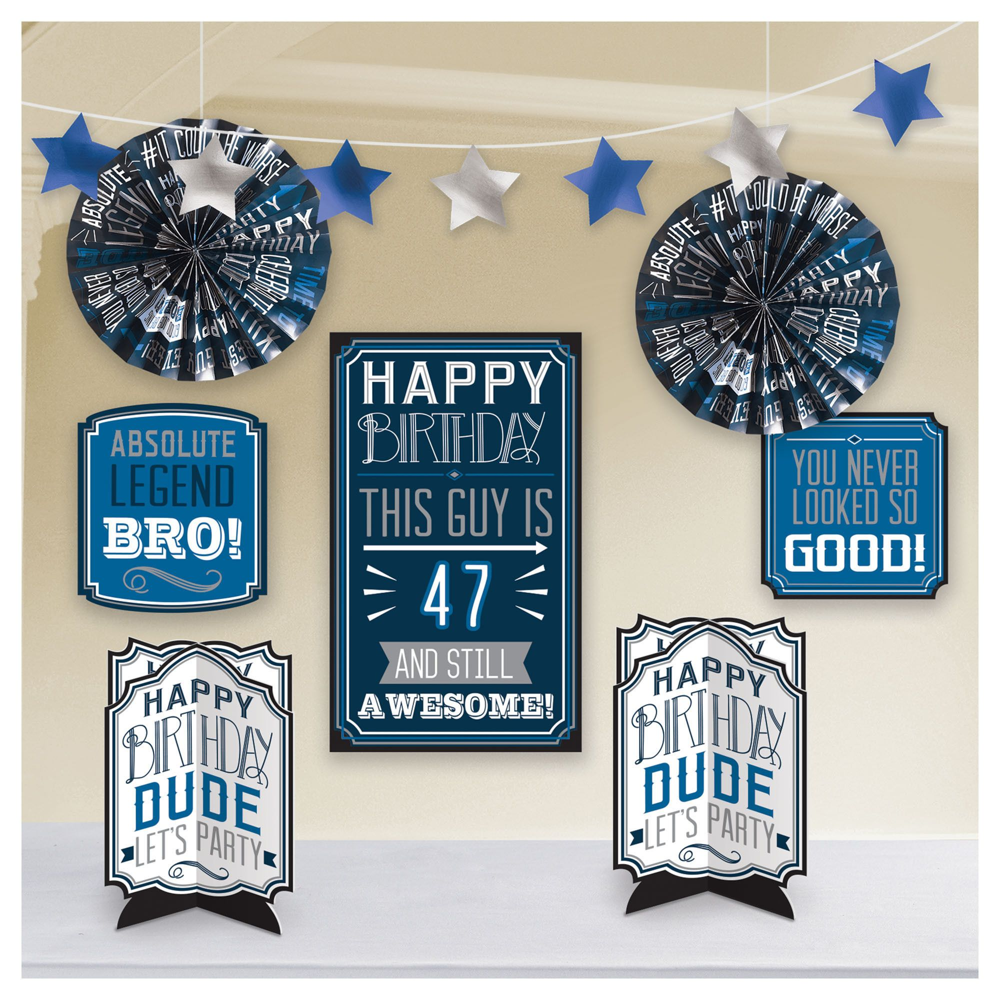 Happy Manly Bday AAA Deco Kit
