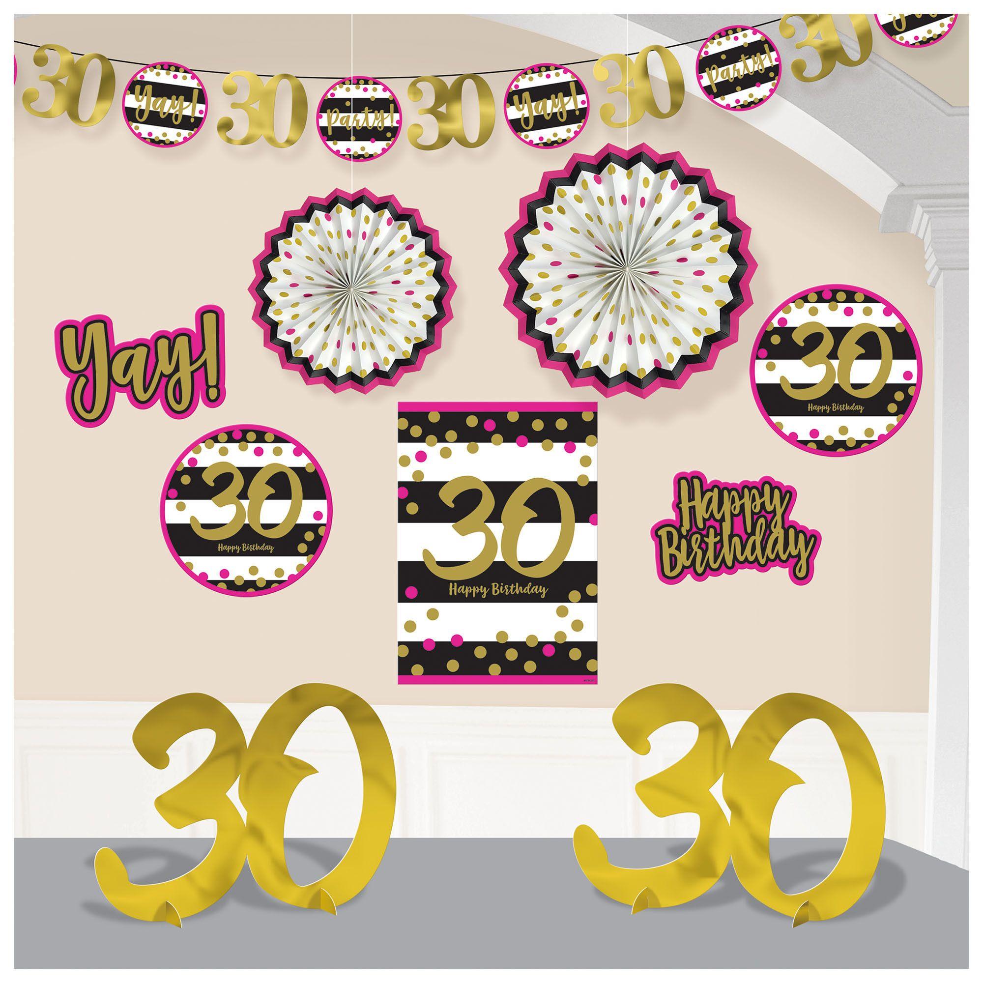 Pink & Gold 30 Deco Kit