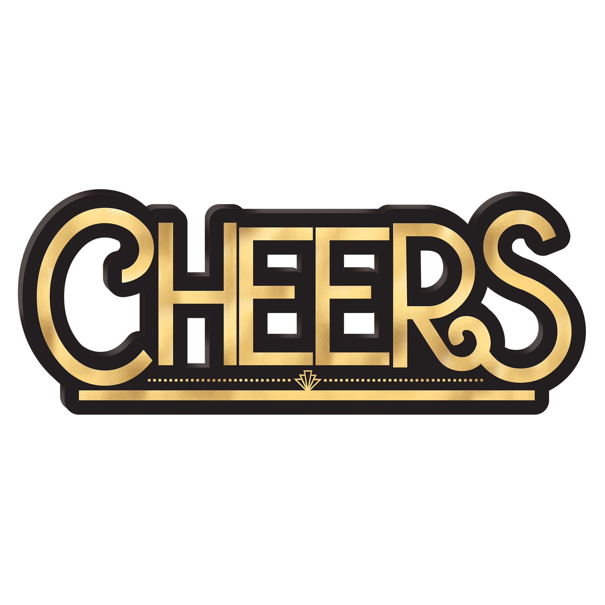 Cheers Standing Sign