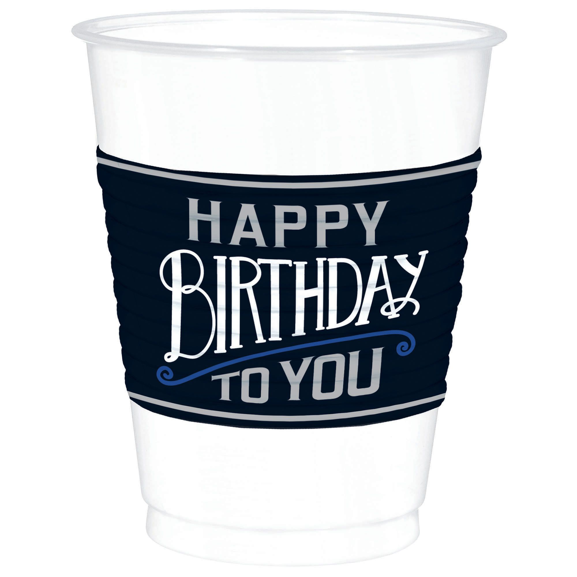Happy Manly Bday 16oz Cups