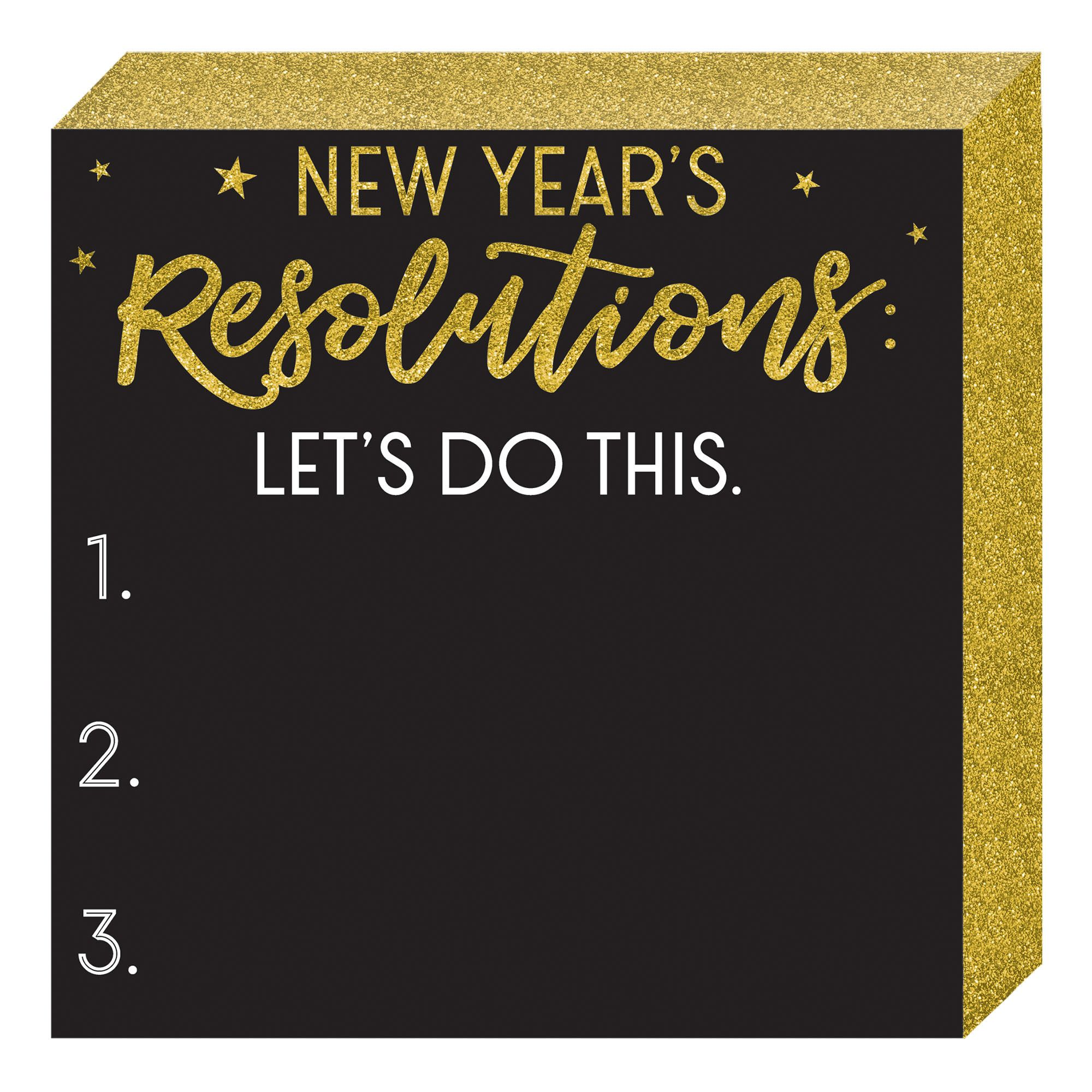 NY Resolutions Standing Plaque