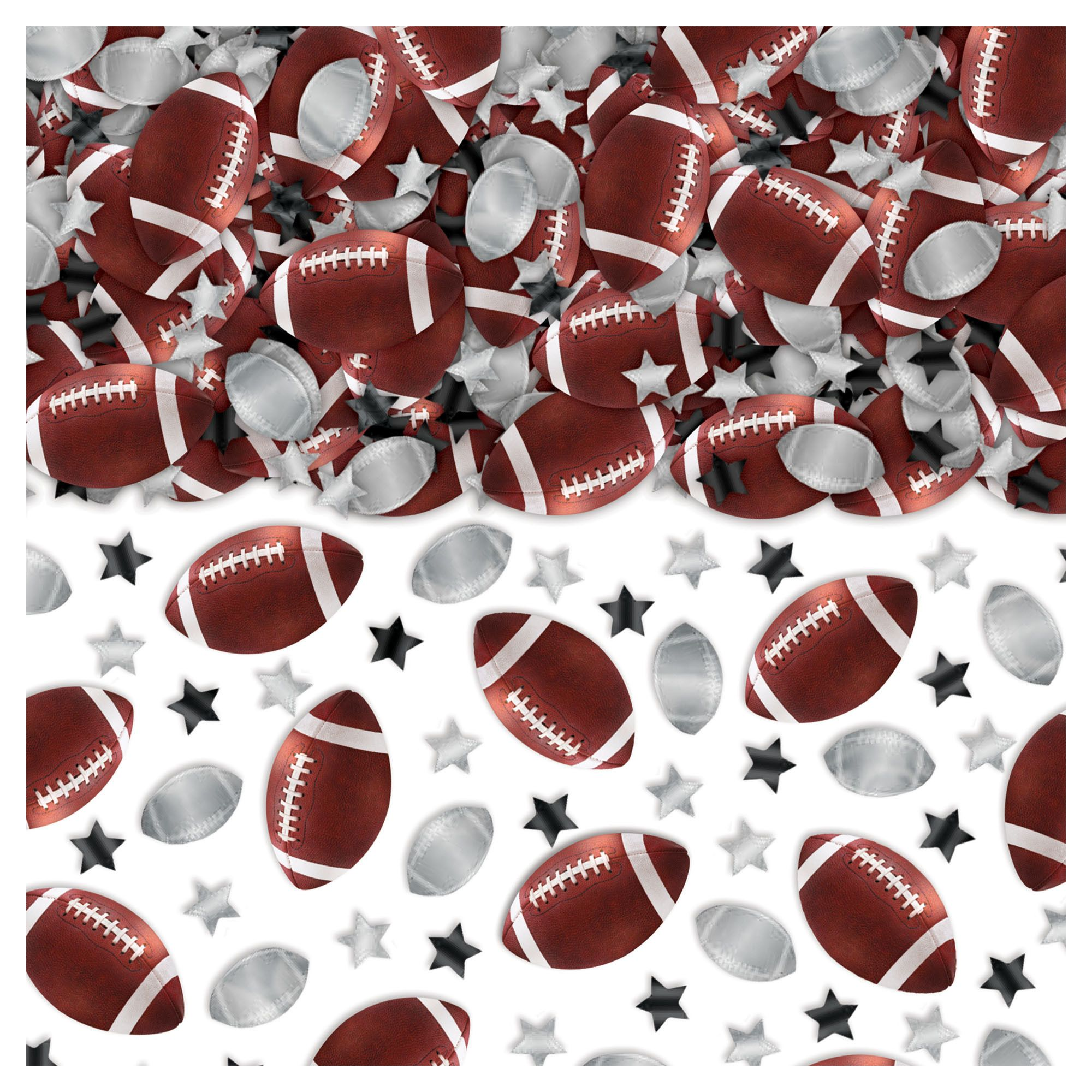 Football & Stars Confetti