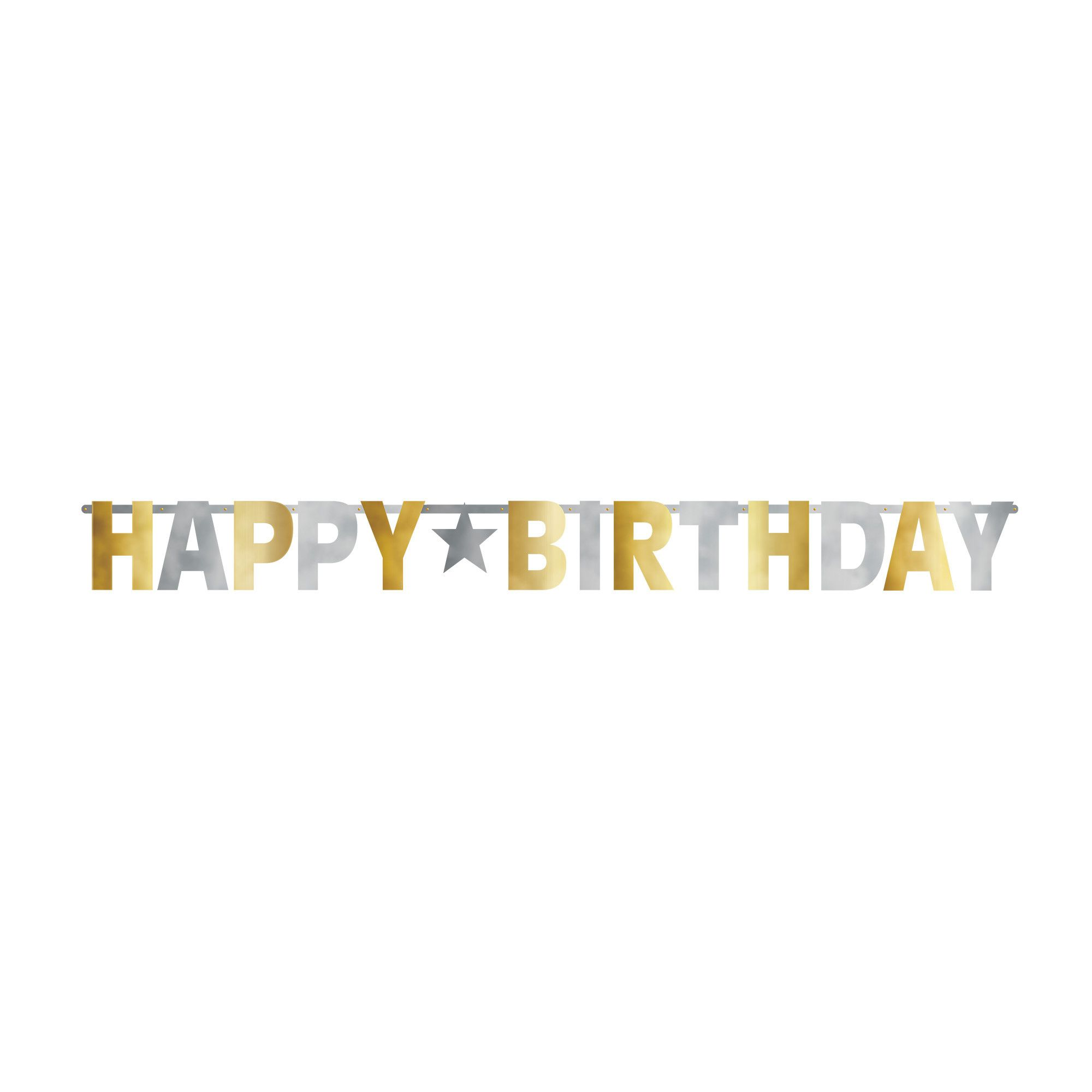 Bday Access S&G Giant Letter Banner