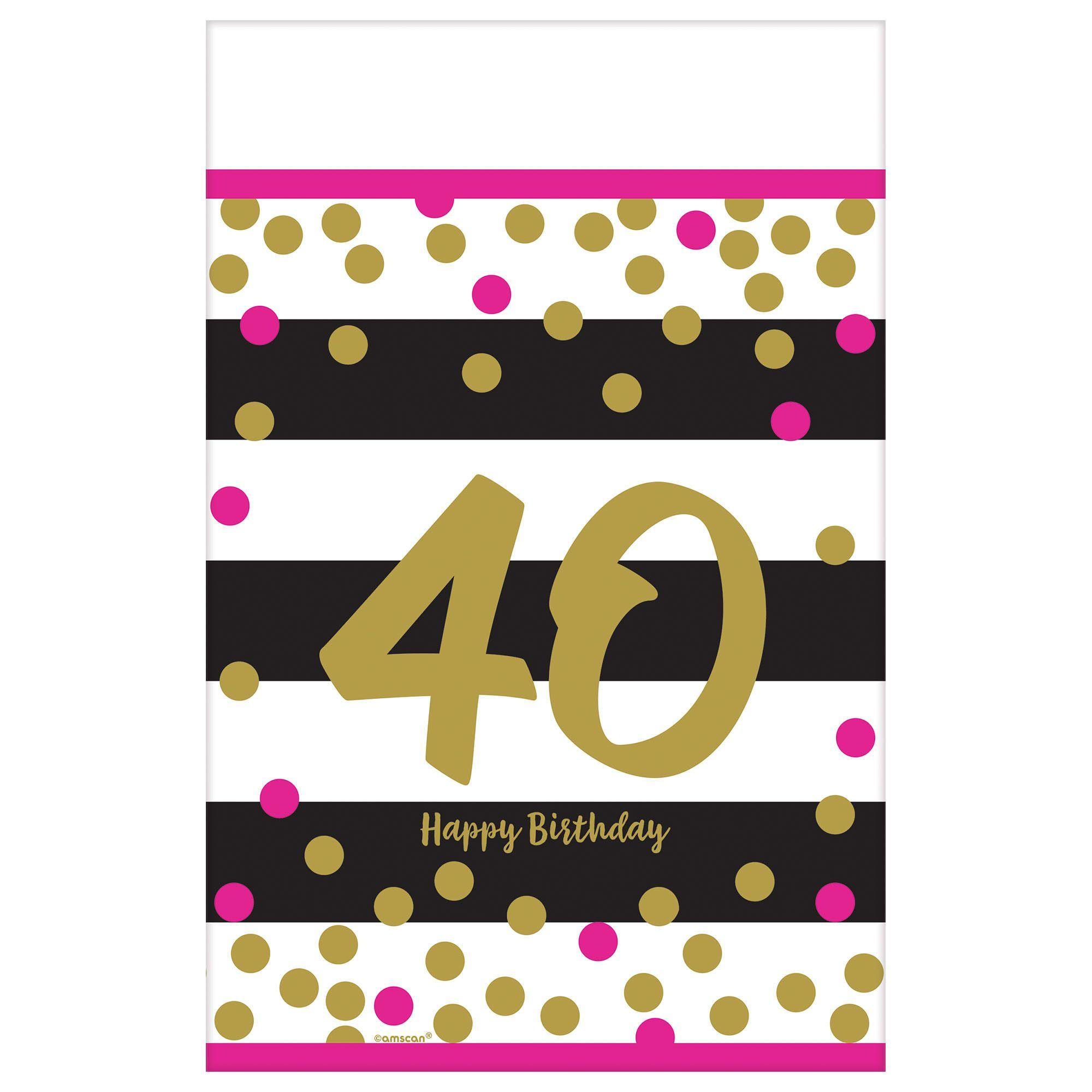 Pink & Gold Milestone 40 TC