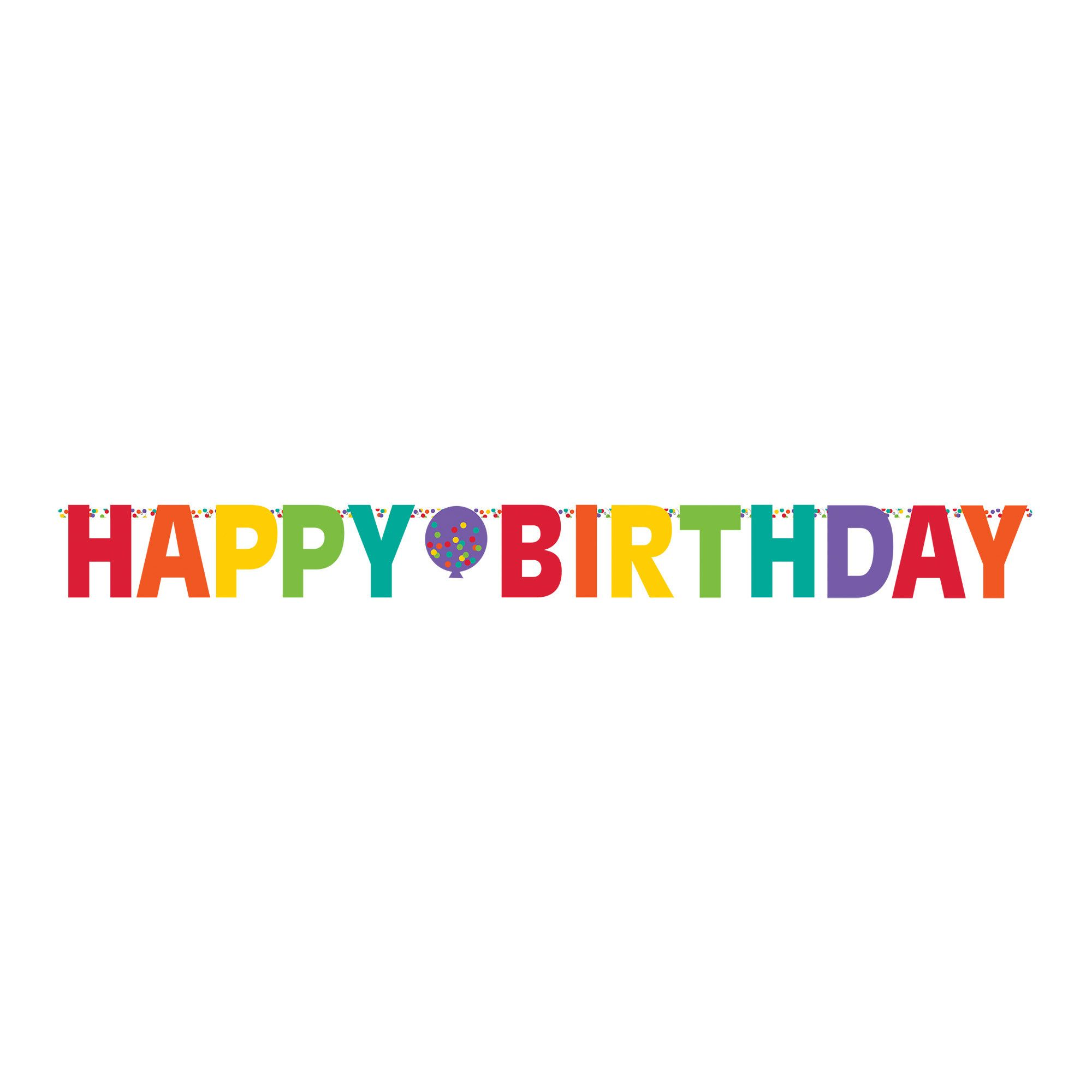 Bday Access Rainbow Giant Letter Banner