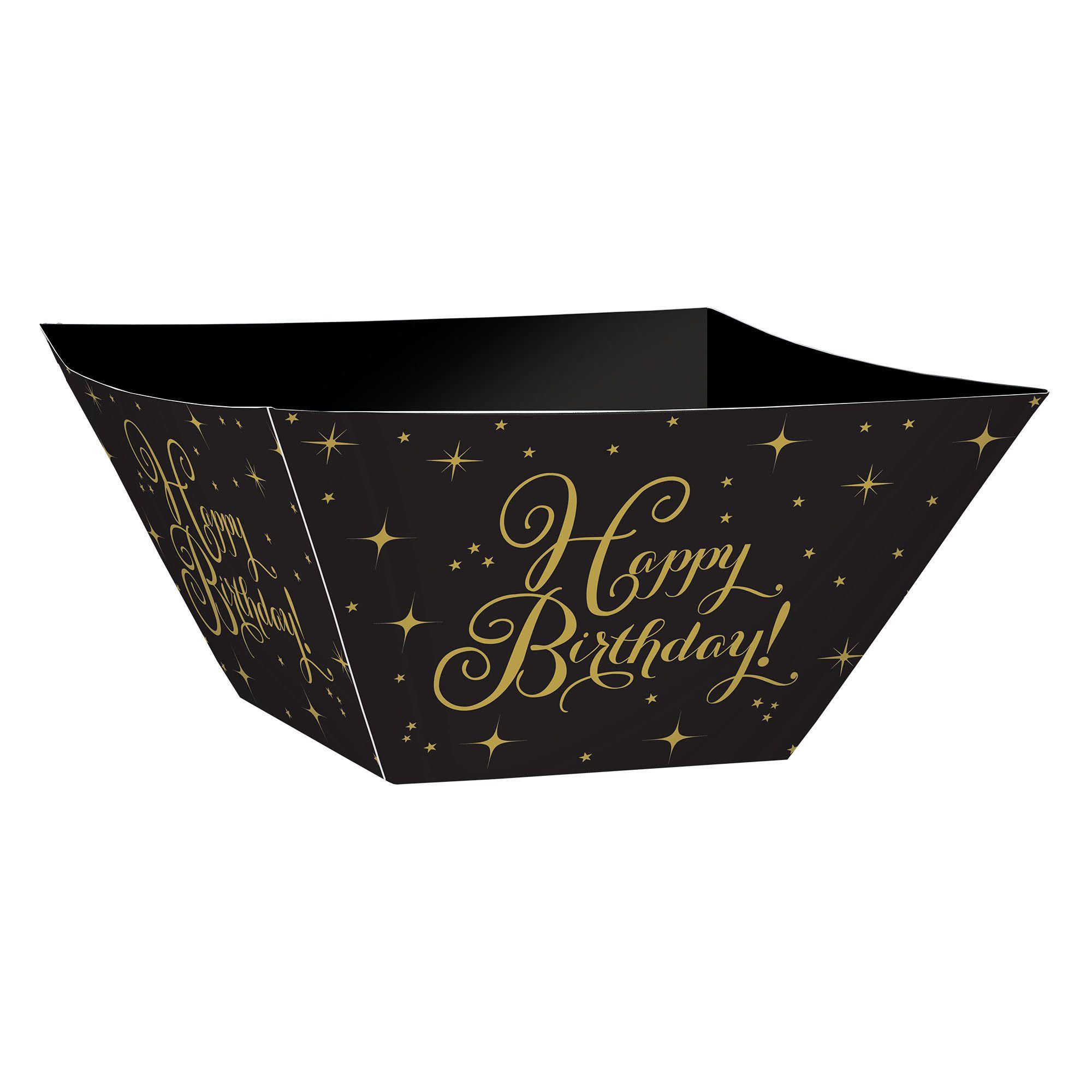 Gold Birthday Paper Bowls