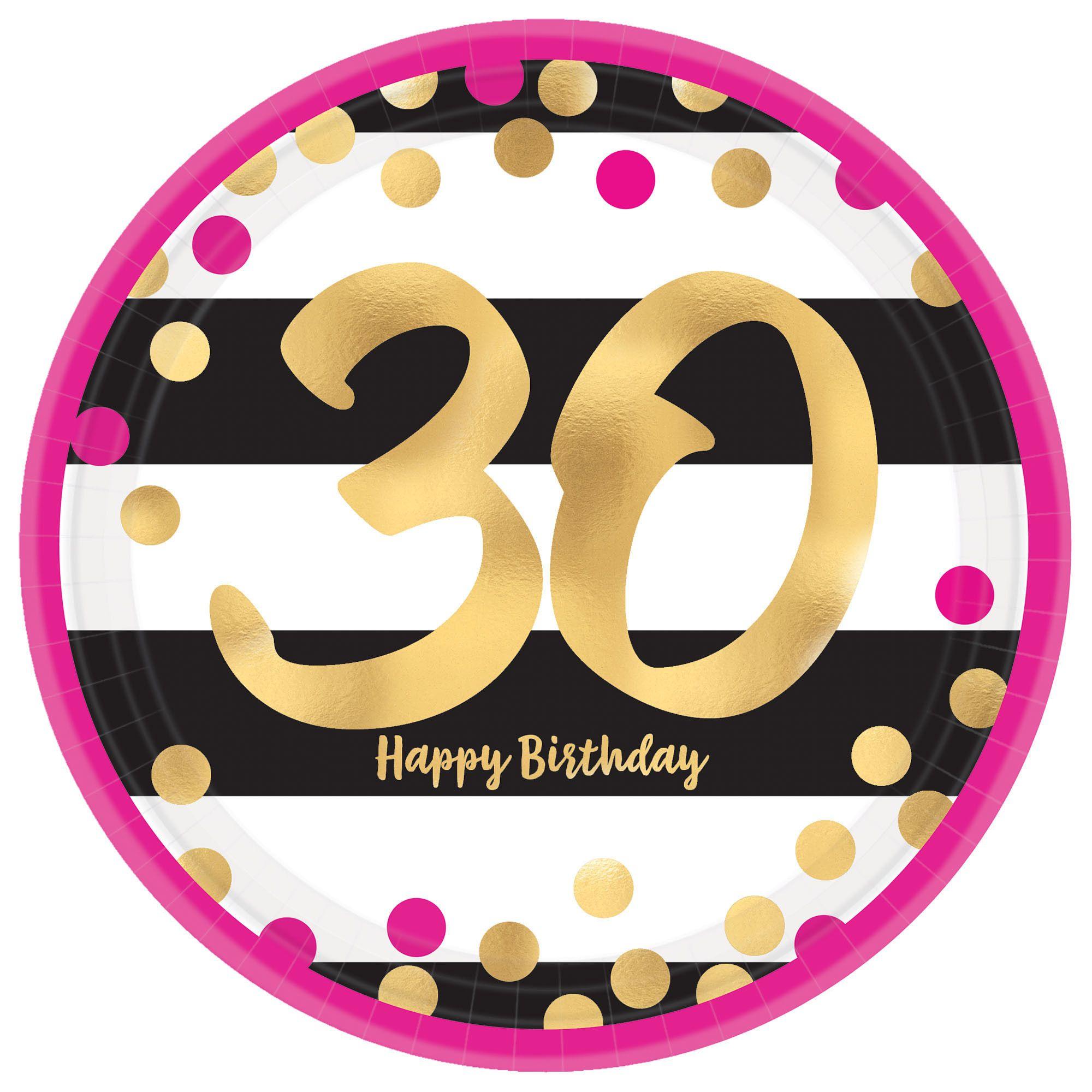 Pink & Gold Milestone 30 9